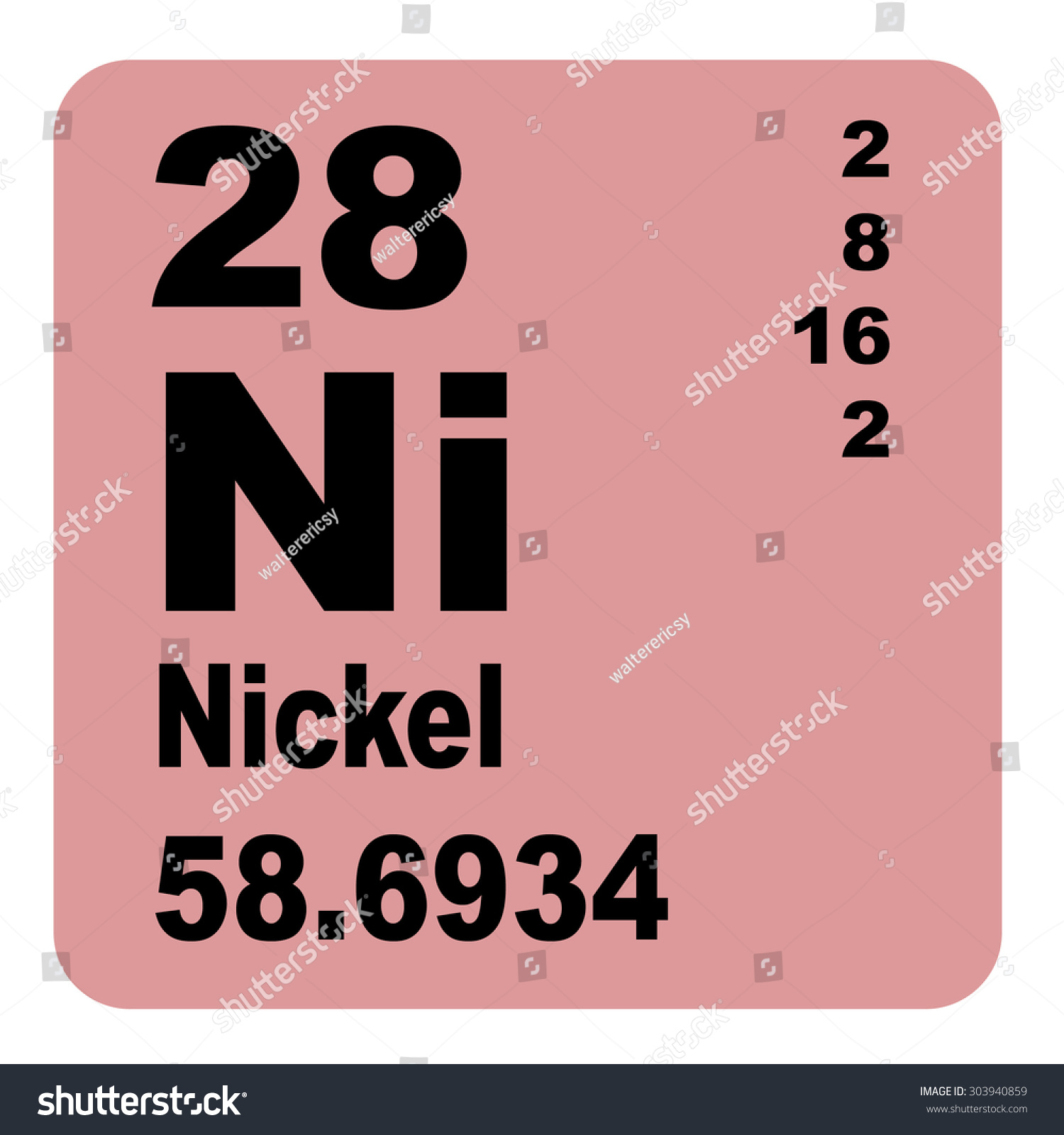 Nickel periodic table elements stock illustration 303940859 nickel periodic table of elements gamestrikefo Gallery