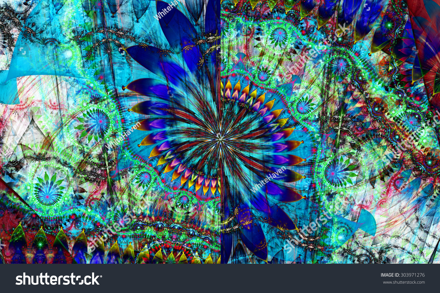 Beautiful Wallpaper High Resolution Trippy - stock-photo-high-resolution-wallpaper-of-a-psychedelic-abstract-alien-sunflower-deocrated-with-various-flower-303971276  2018_6776.jpg