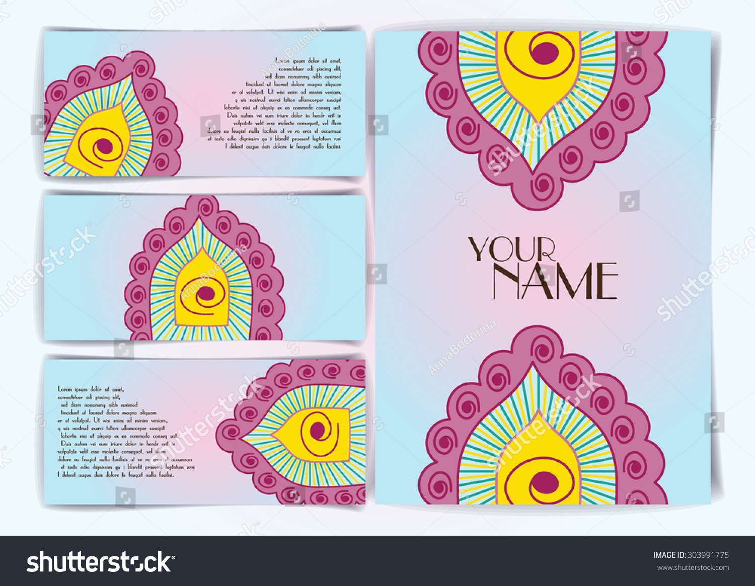 Business Card Vintage Decorative Elements Hand Stock Vector ...