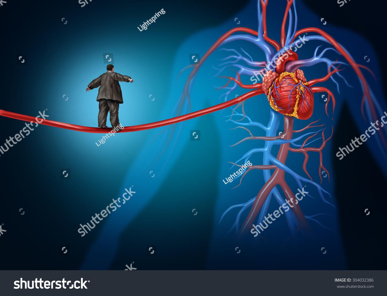 Risk Factors Heart Disease Danger Medical Stock Illustration