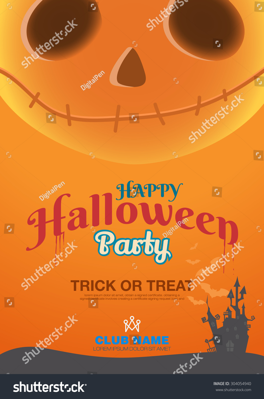 halloween poster template label book ad stock vector (royalty free