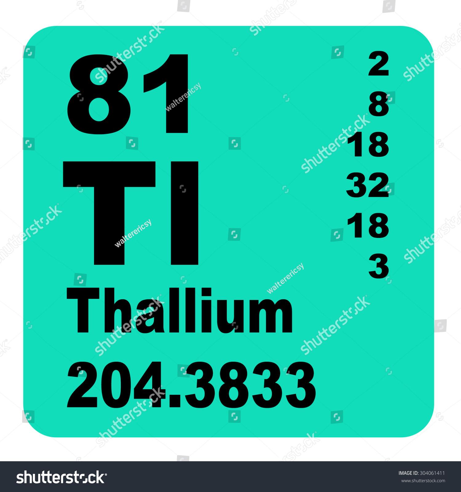 Thallium Periodic Table Elements Stock Illustration Royalty Free