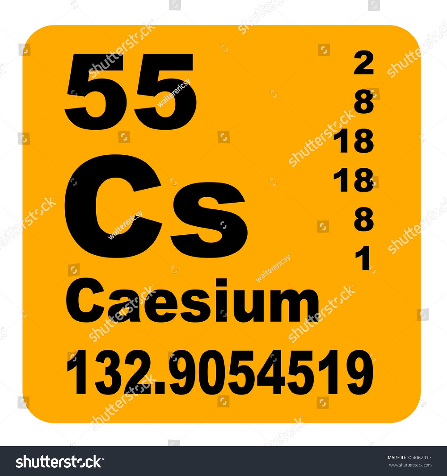 Caesium periodic table elements stock illustration 304062917 caesium periodic table of elements gamestrikefo Choice Image