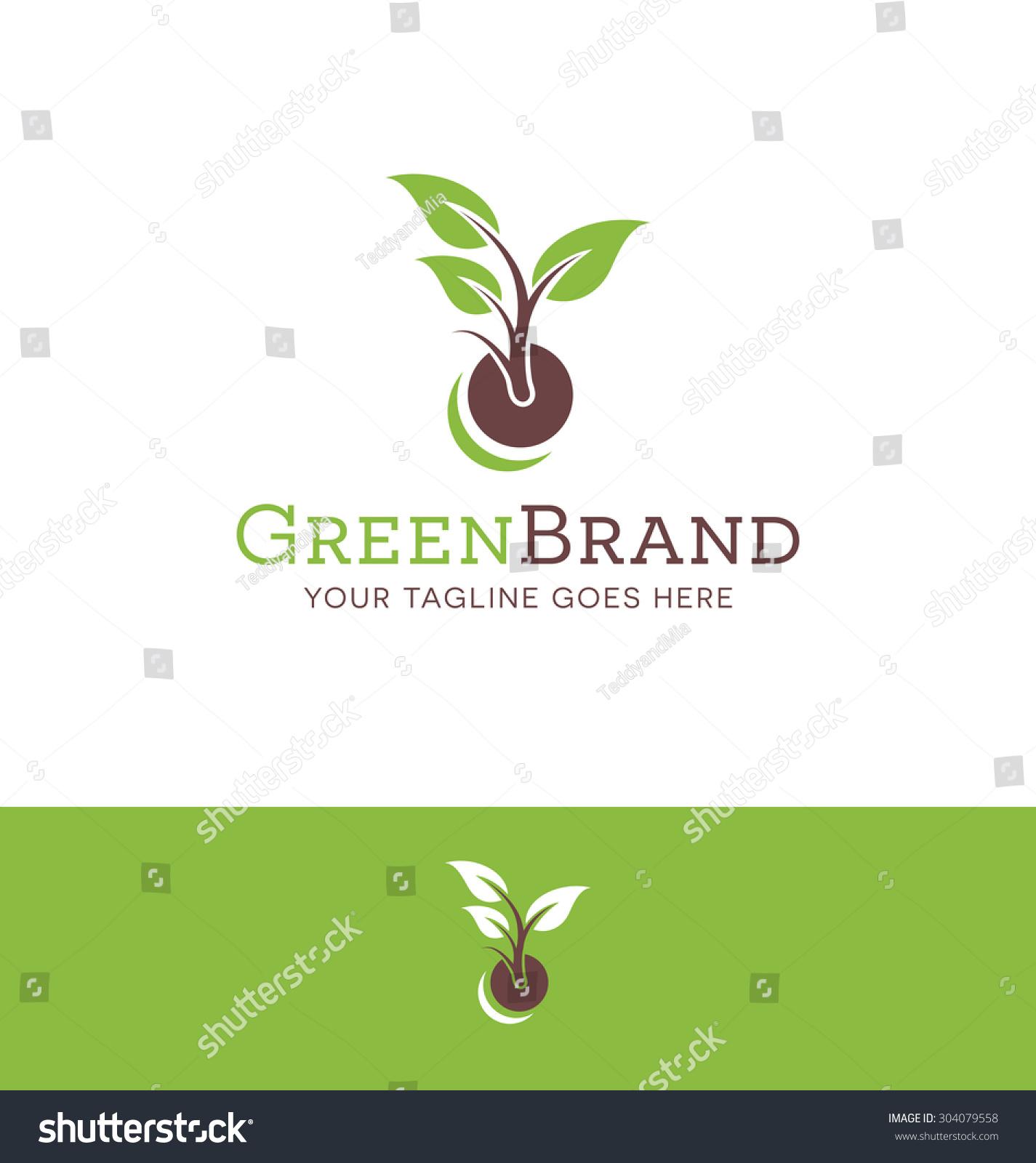 logo plant garden business stock vector