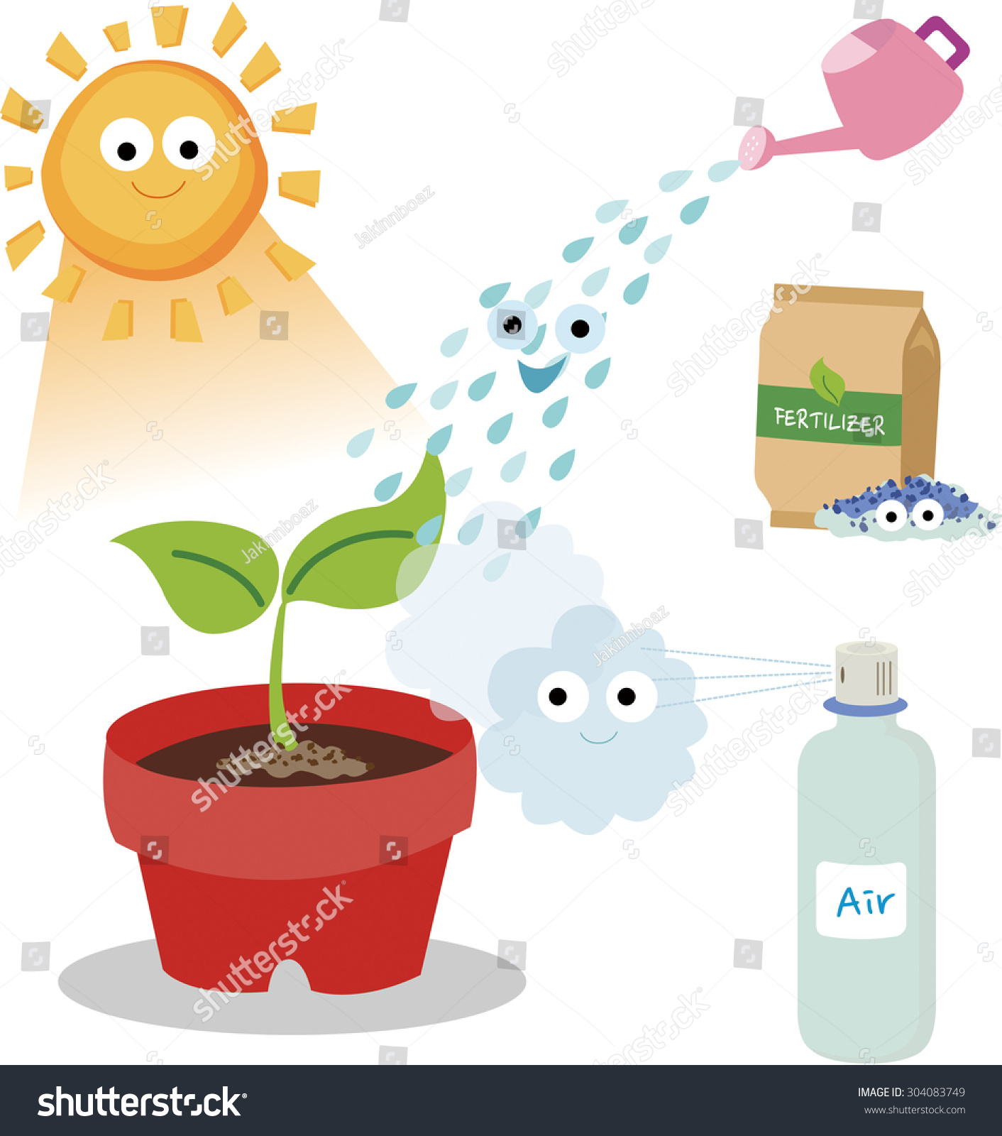 Vital Needs Plant Plants Need Sunlight Stock Vector ...