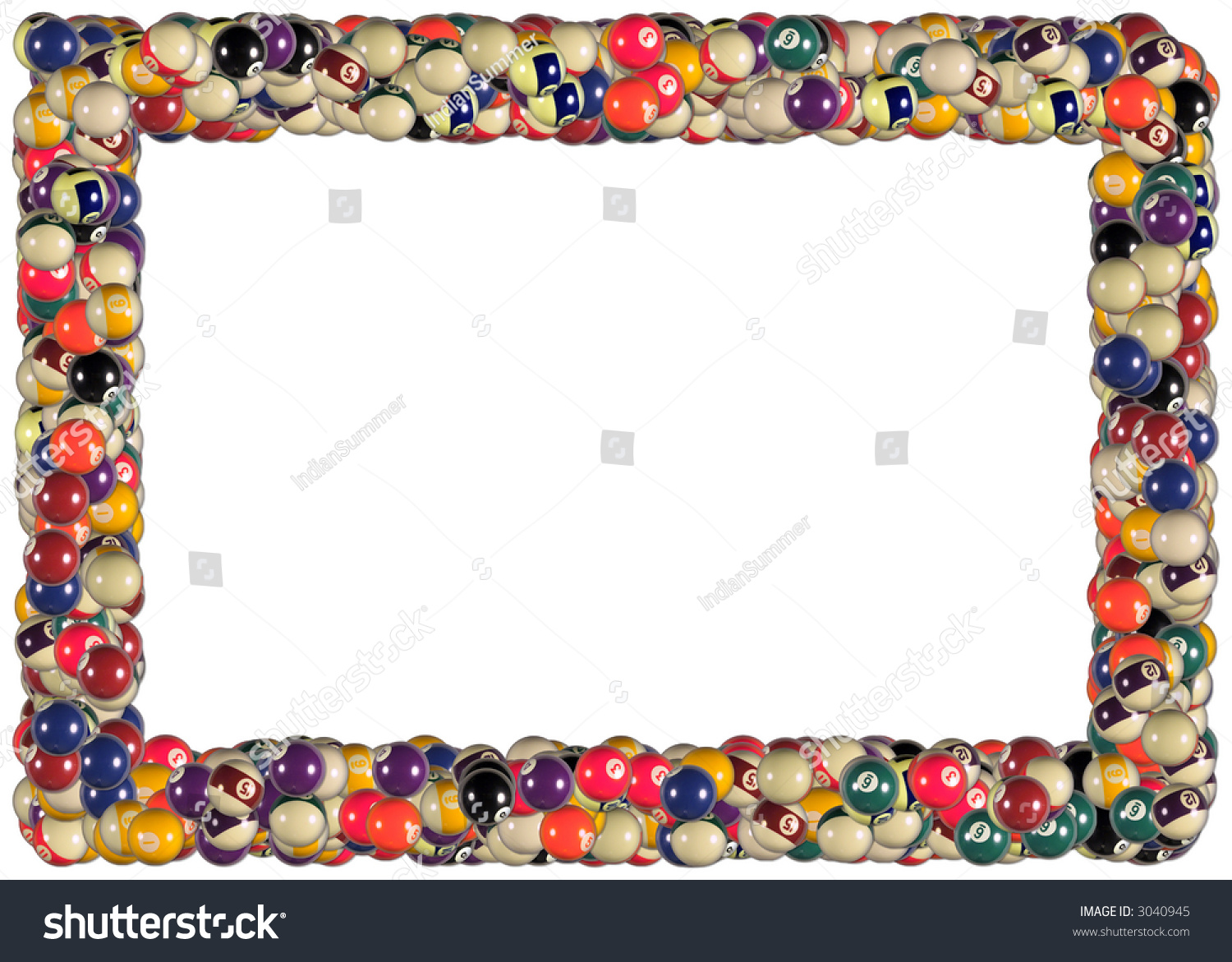 billiard balls frame from the sports games frames series