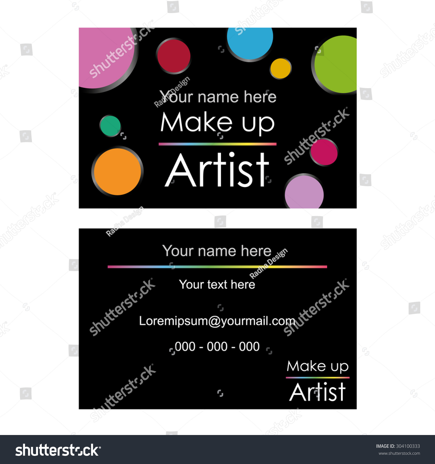 Vector business card exclusive design professional stock vector vector business card exclusive design for professional make up artists text not editable colourmoves
