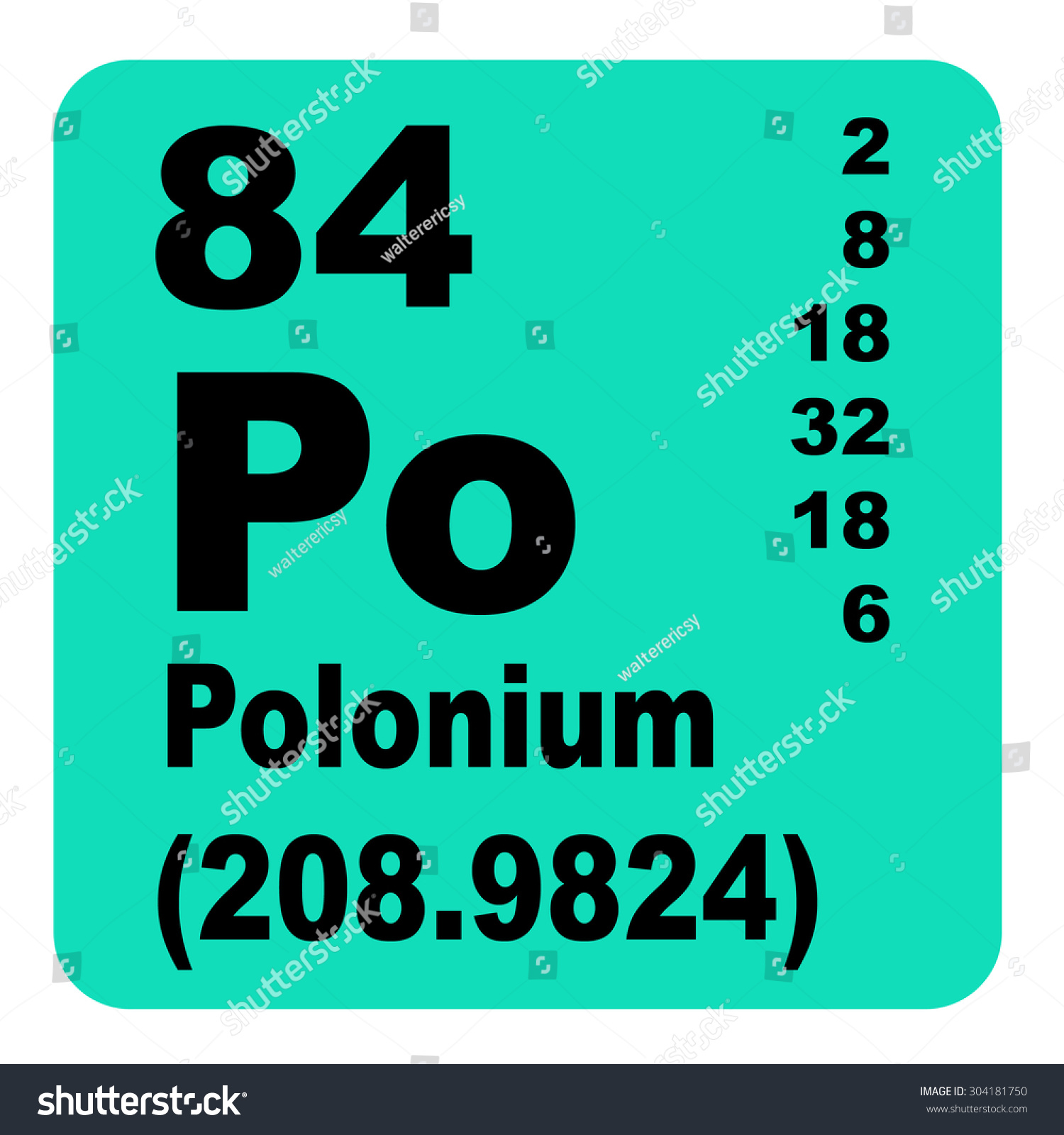 Polonium periodic table elements stock illustration 304181750 polonium periodic table of elements gamestrikefo Choice Image