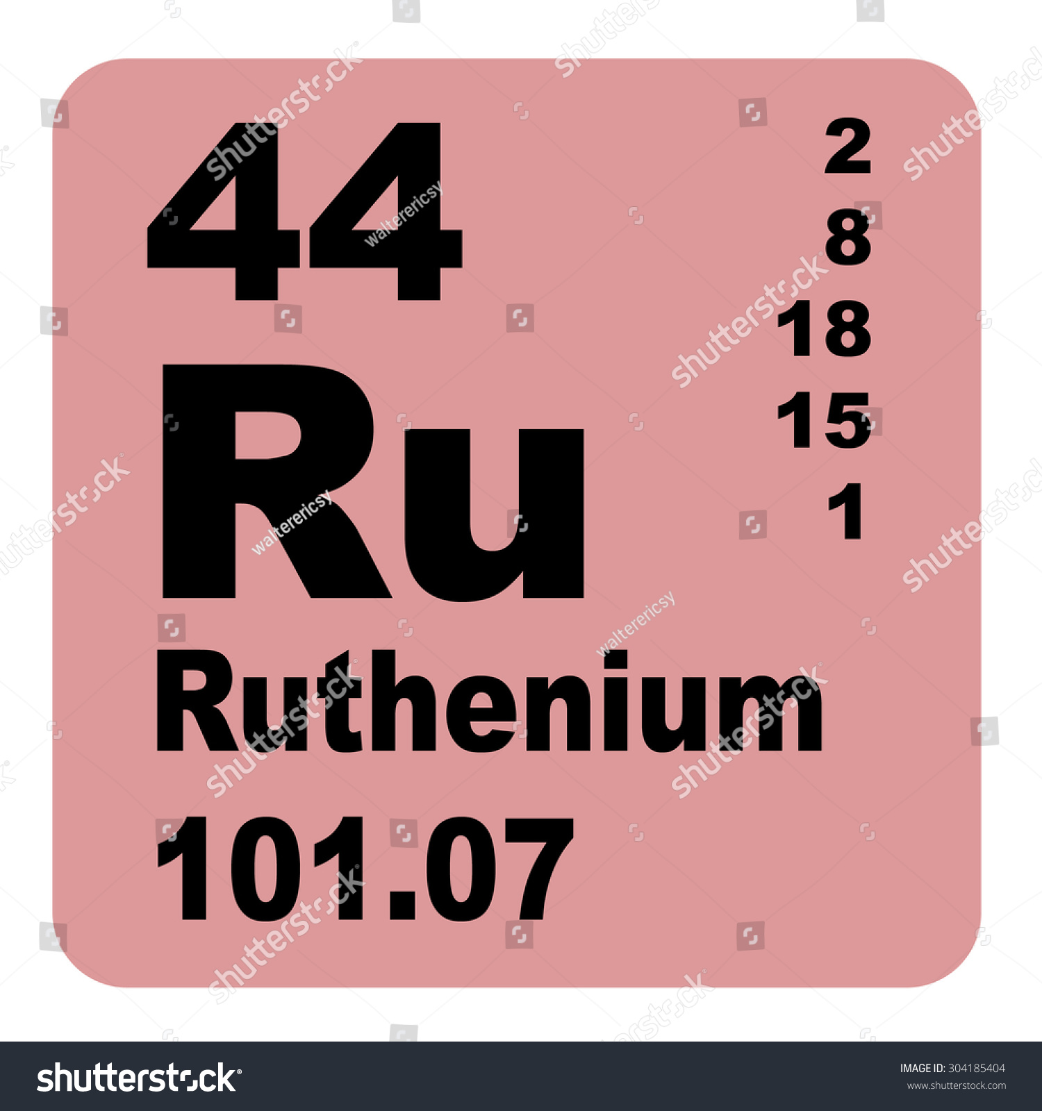 Ruthenium periodic table elements stock illustration 304185404 ruthenium periodic table of elements gamestrikefo Choice Image