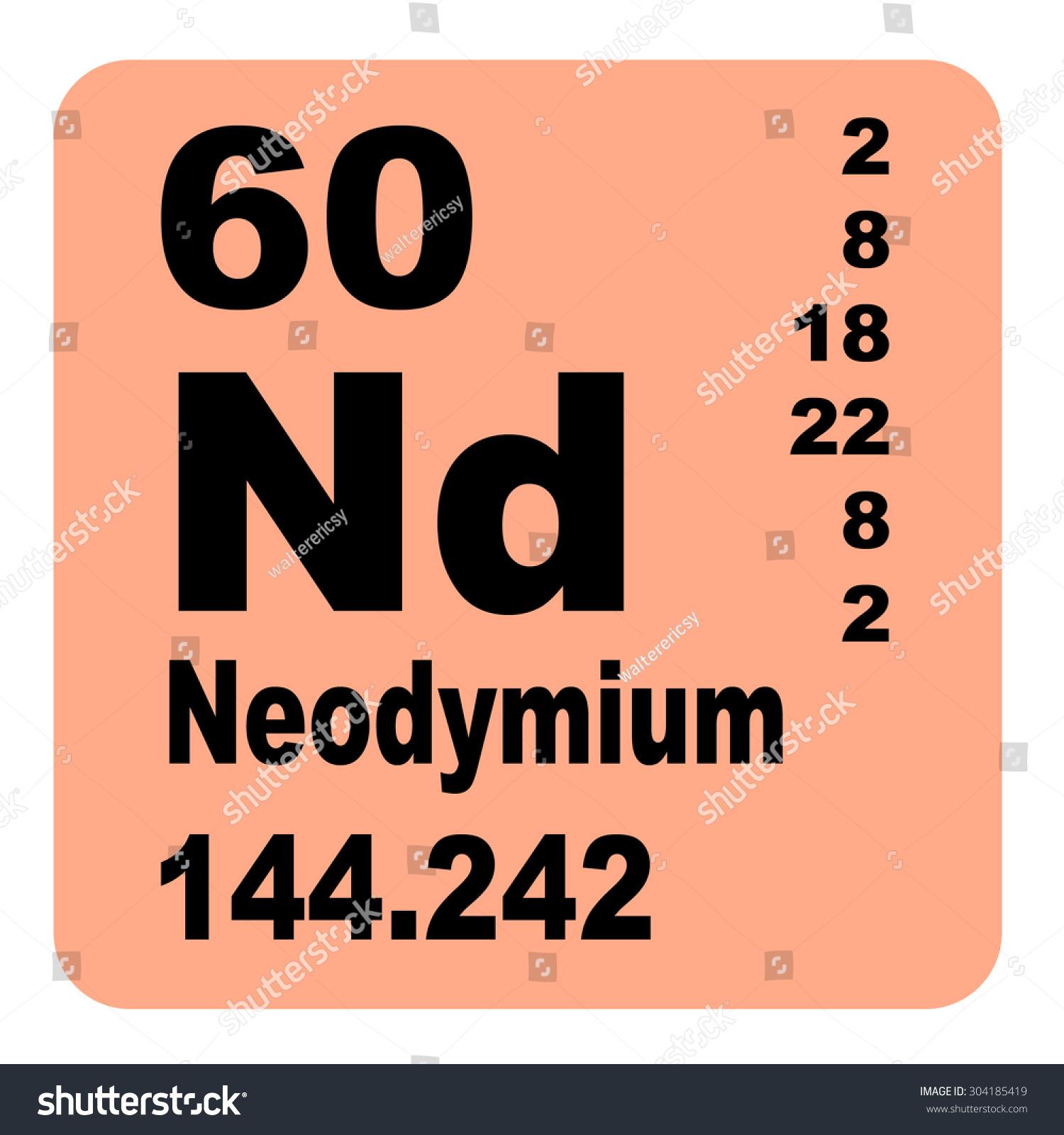 Neodymium periodic table elements stock illustration 304185419 neodymium periodic table of elements gamestrikefo Choice Image