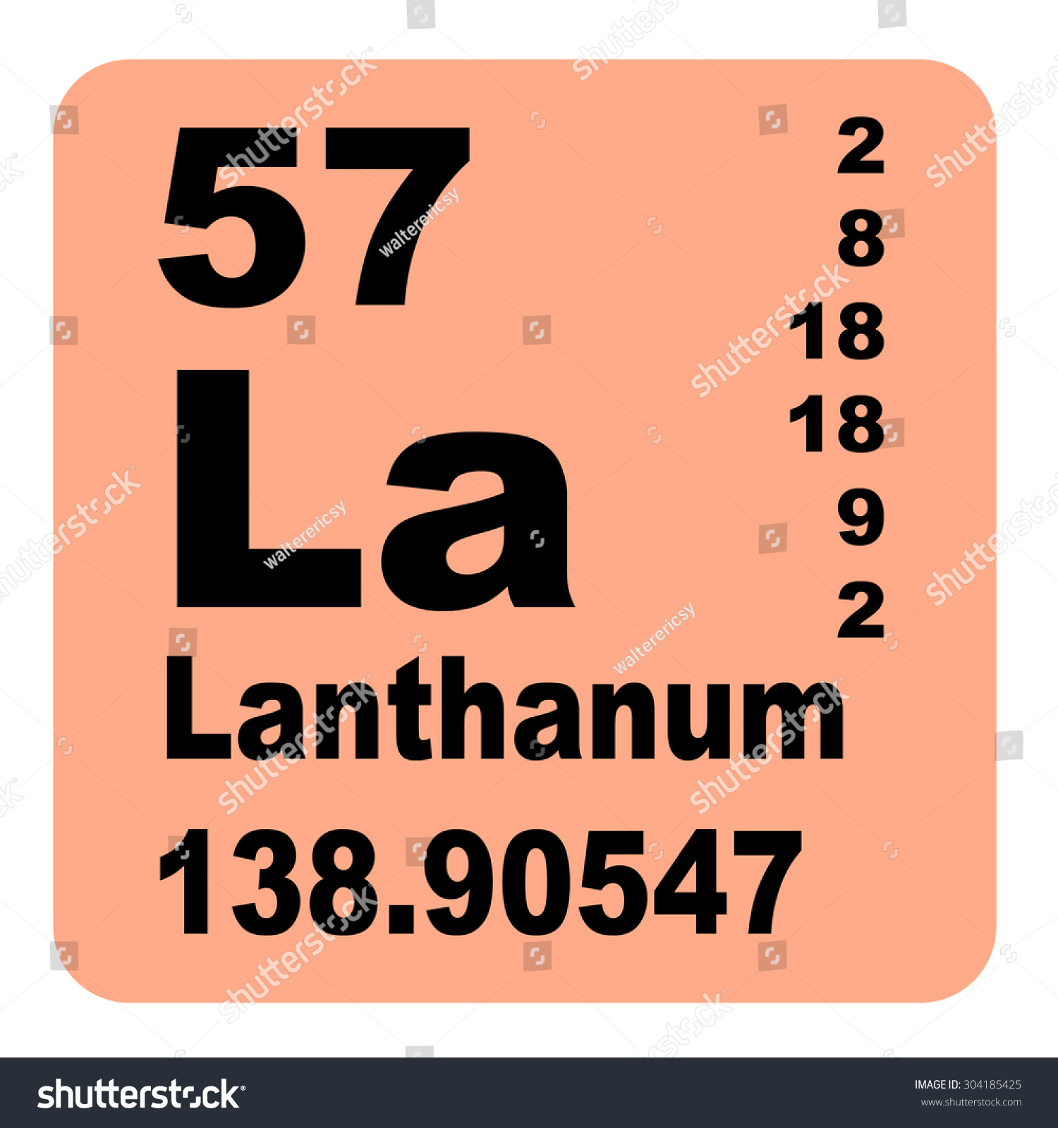 Lanthanum periodic table elements stock illustration 304185425 lanthanum periodic table of elements gamestrikefo Image collections