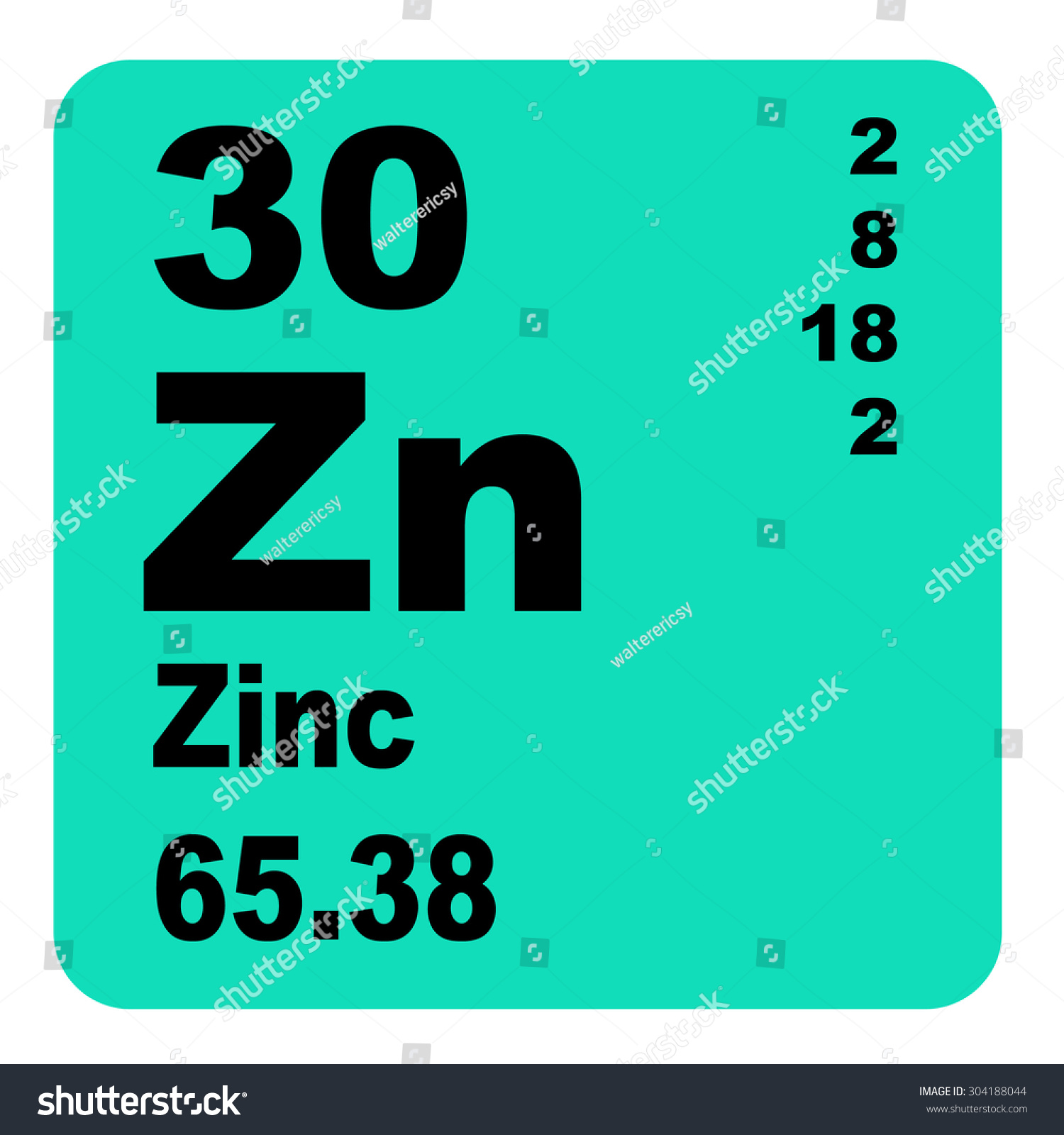 Zinc periodic table elements stock illustration 304188044 shutterstock zinc periodic table of elements urtaz Images