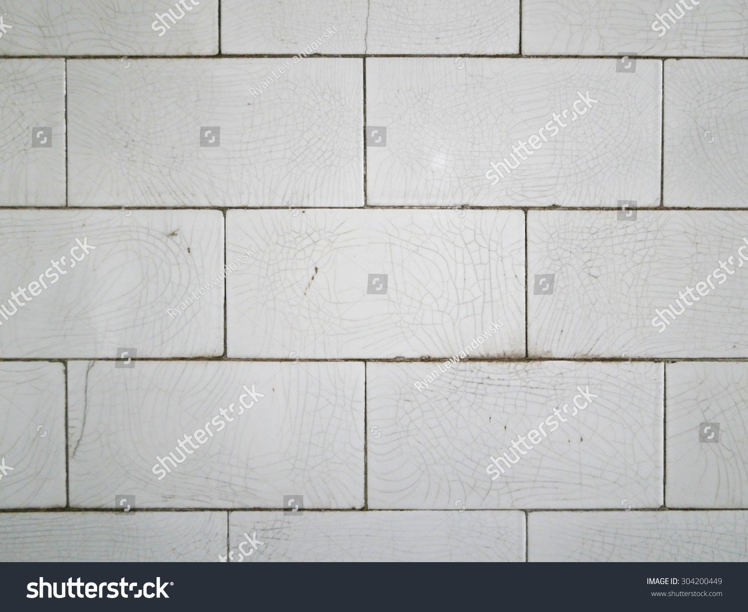 Crazed White Subway Tile
