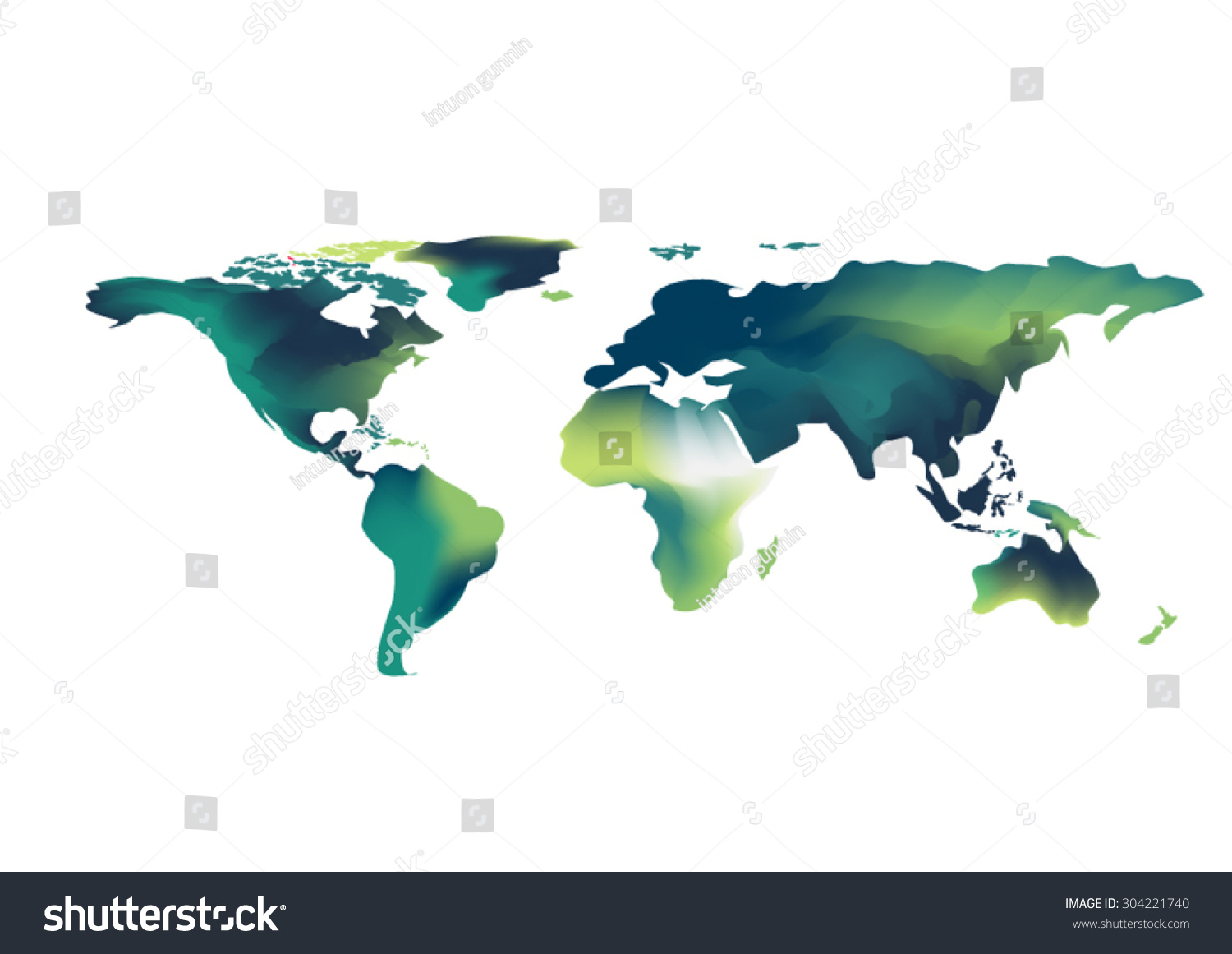 Abstract world map background water color stock vector 304221740 abstract world map background water color green and blue tone design style vector background elements of gumiabroncs Gallery