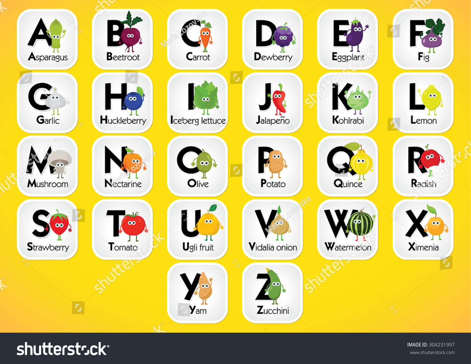 english alphabet for kids with fruits and vegetables back to school learning english food