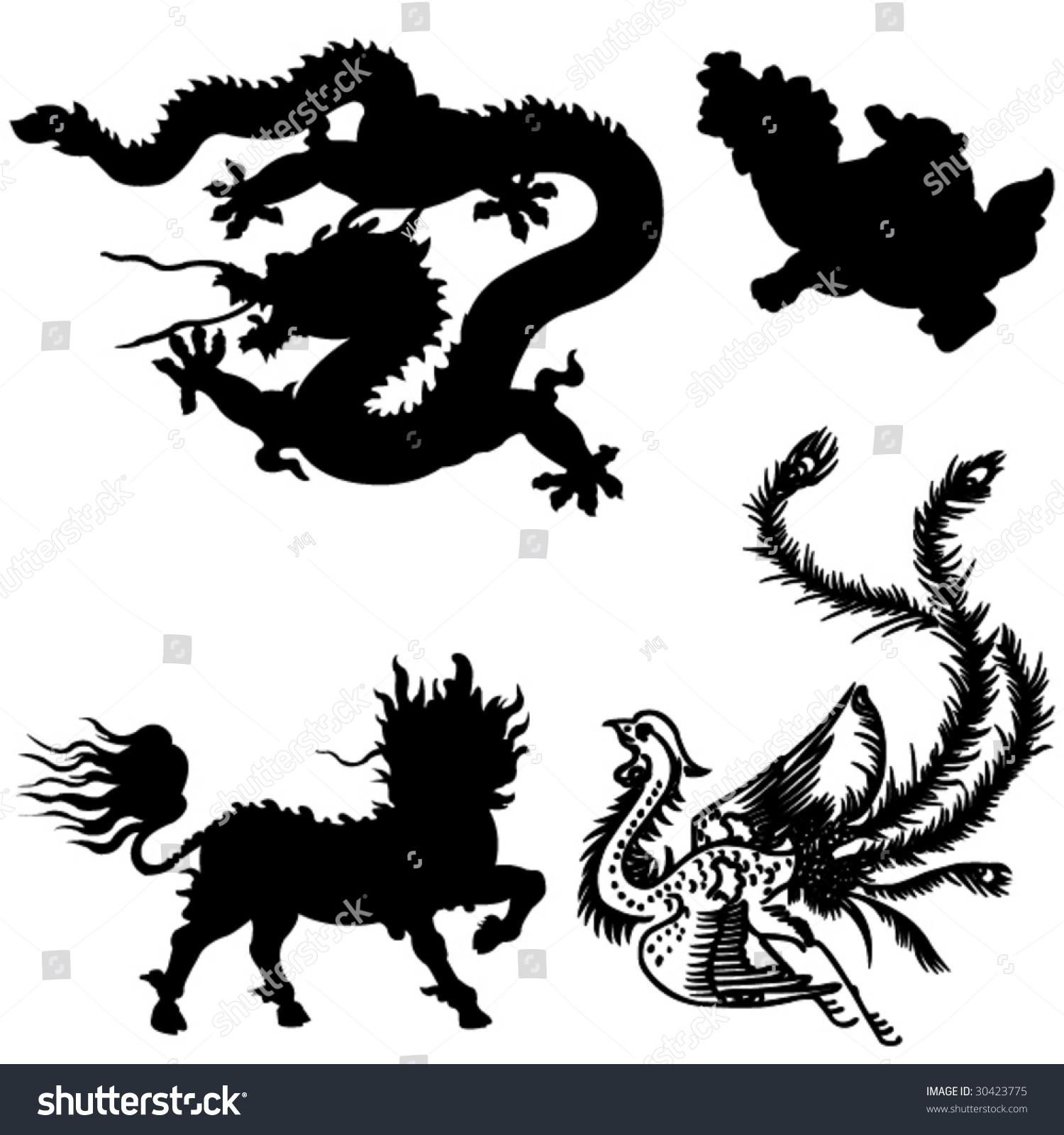 Four ancient chinese myth animals stock vector 30423775 shutterstock the four ancient chinese myth of animals buycottarizona
