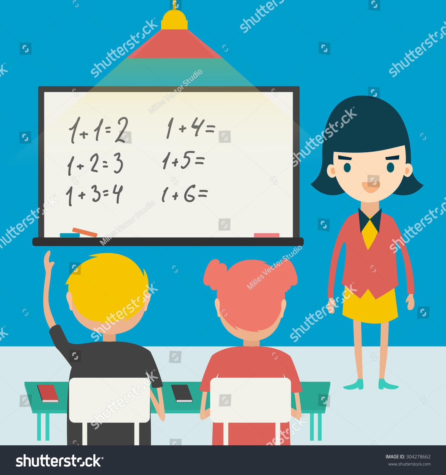 Back School Vector Illustration Children Math Stock Photo (Photo ...