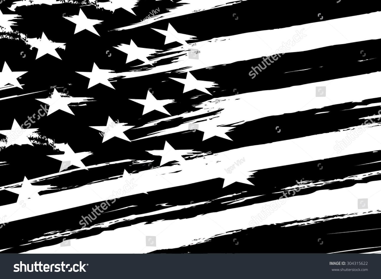 Clip Art Us Flag Black White