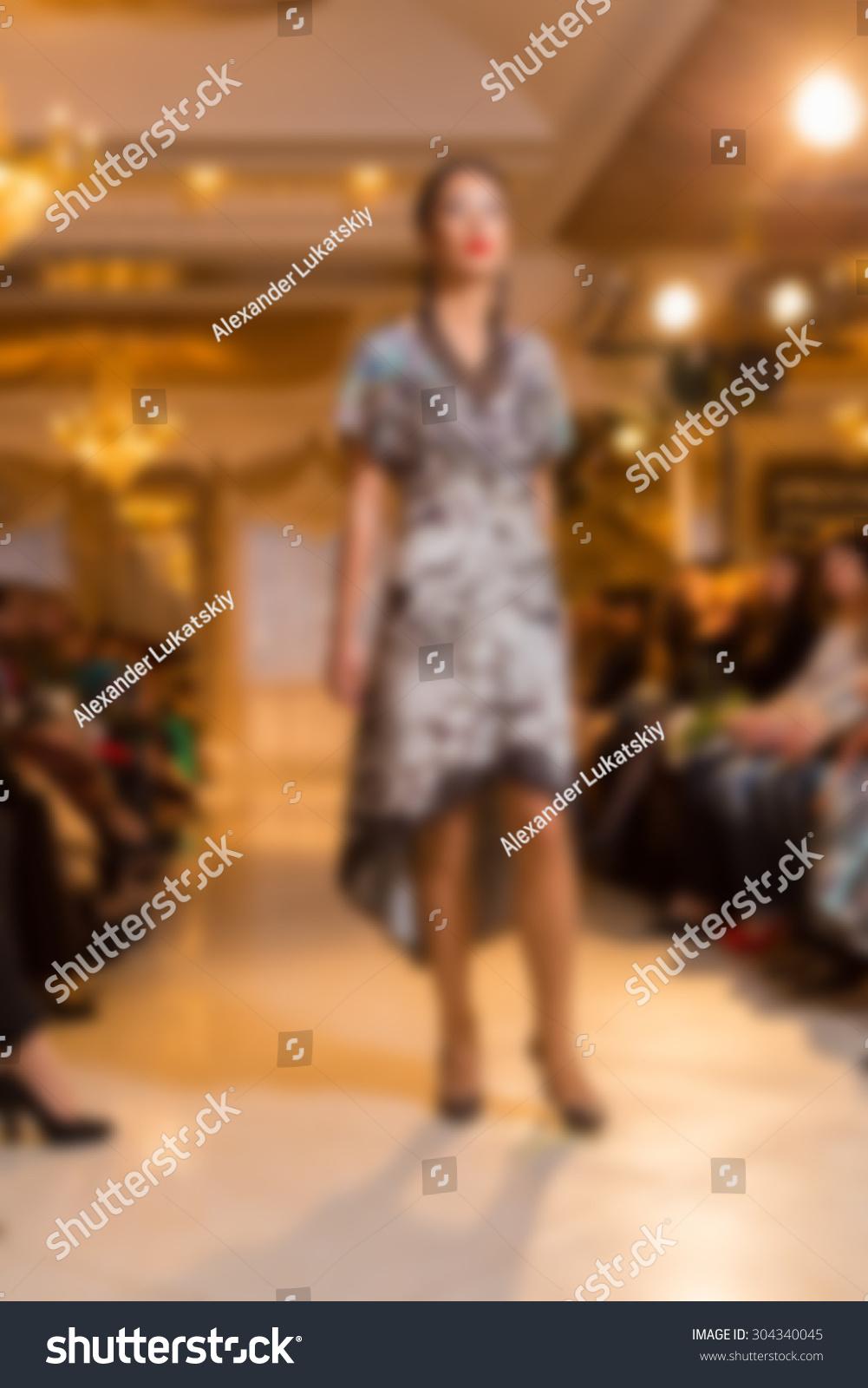 fashion show blurring background stock photo 304340045