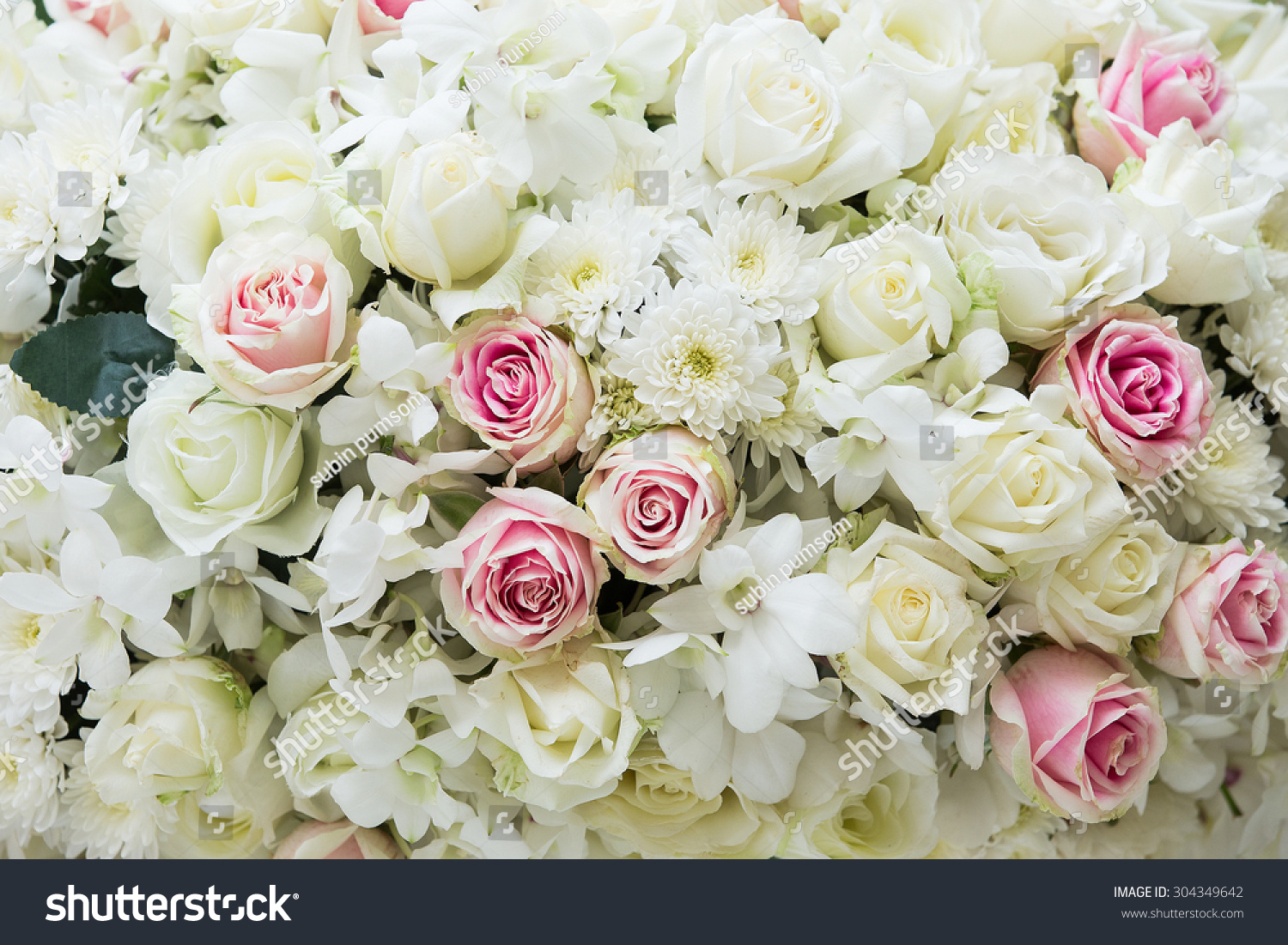 Beautiful Flowers Background Wedding Scene Stock Photo Edit Now