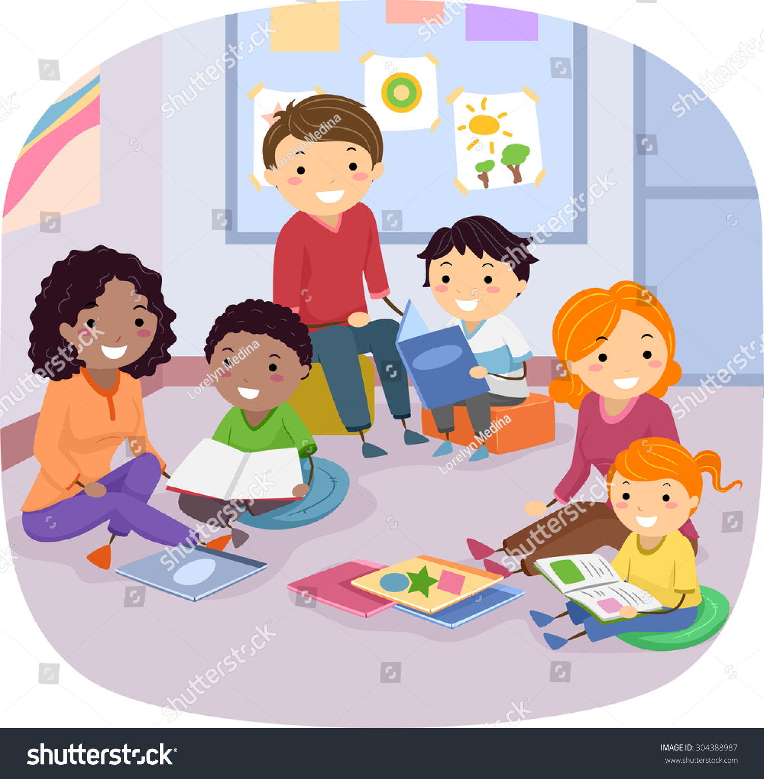 clipart family reading together - photo #19