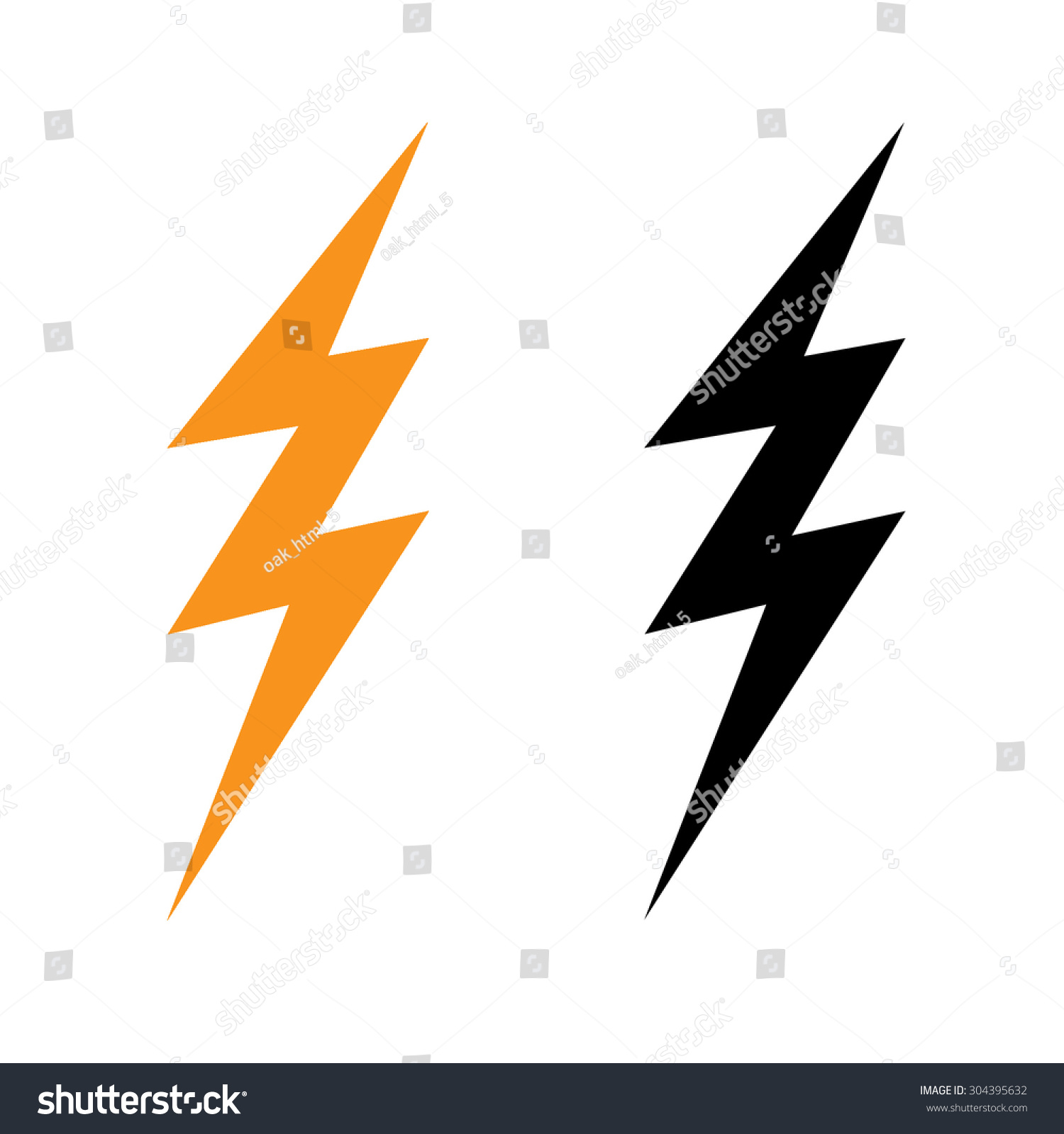 Thunder Symbol Stock Illustration 304395632 Shutterstock
