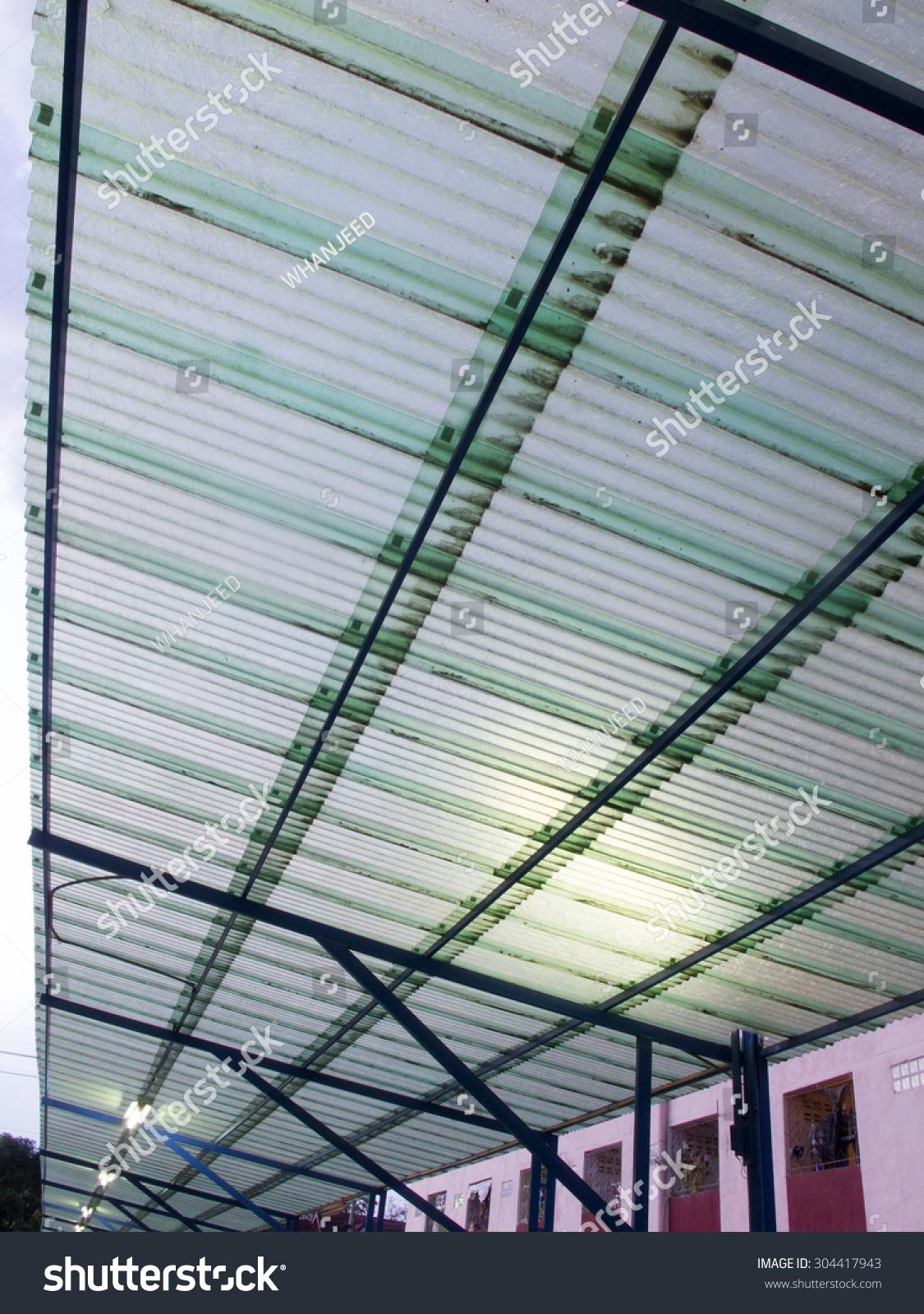 Transparent Roof Tiles Car Parking Stock Photo Edit Now 304417943