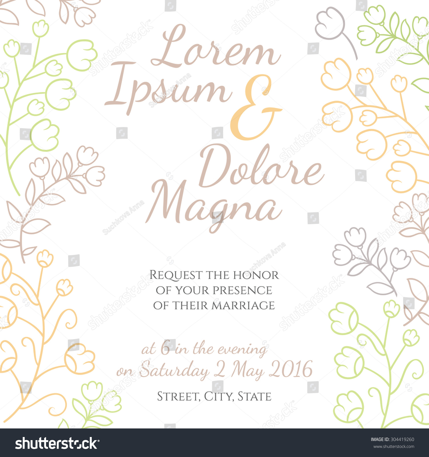 Invitation wedding card vector template invitations em vetor stock invitation wedding card vector template for invitations flyers postcards cards and so stopboris Images