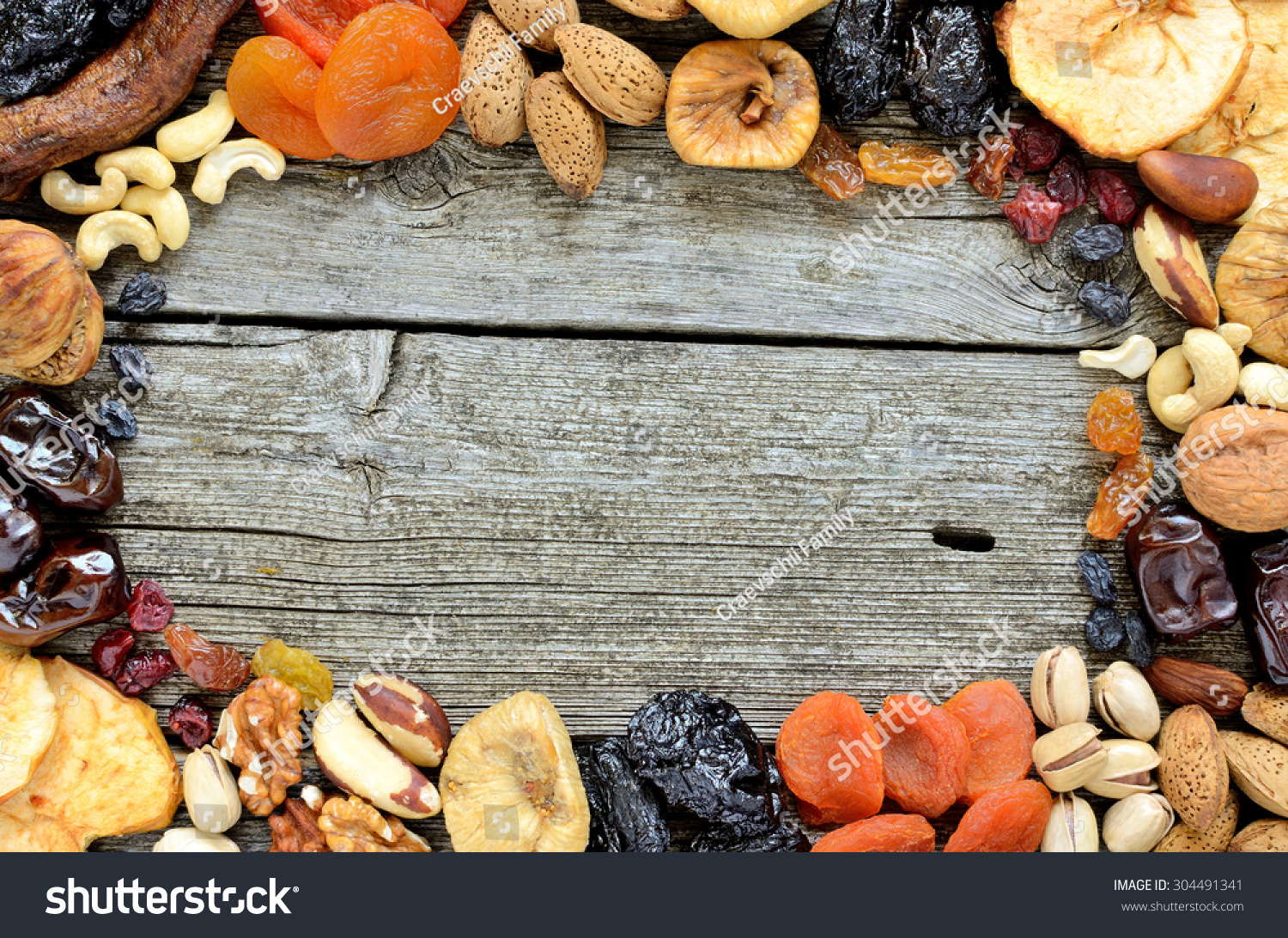 Mix Of Dried Fruits And Nuts - Symbols Of Judaic Holiday ...