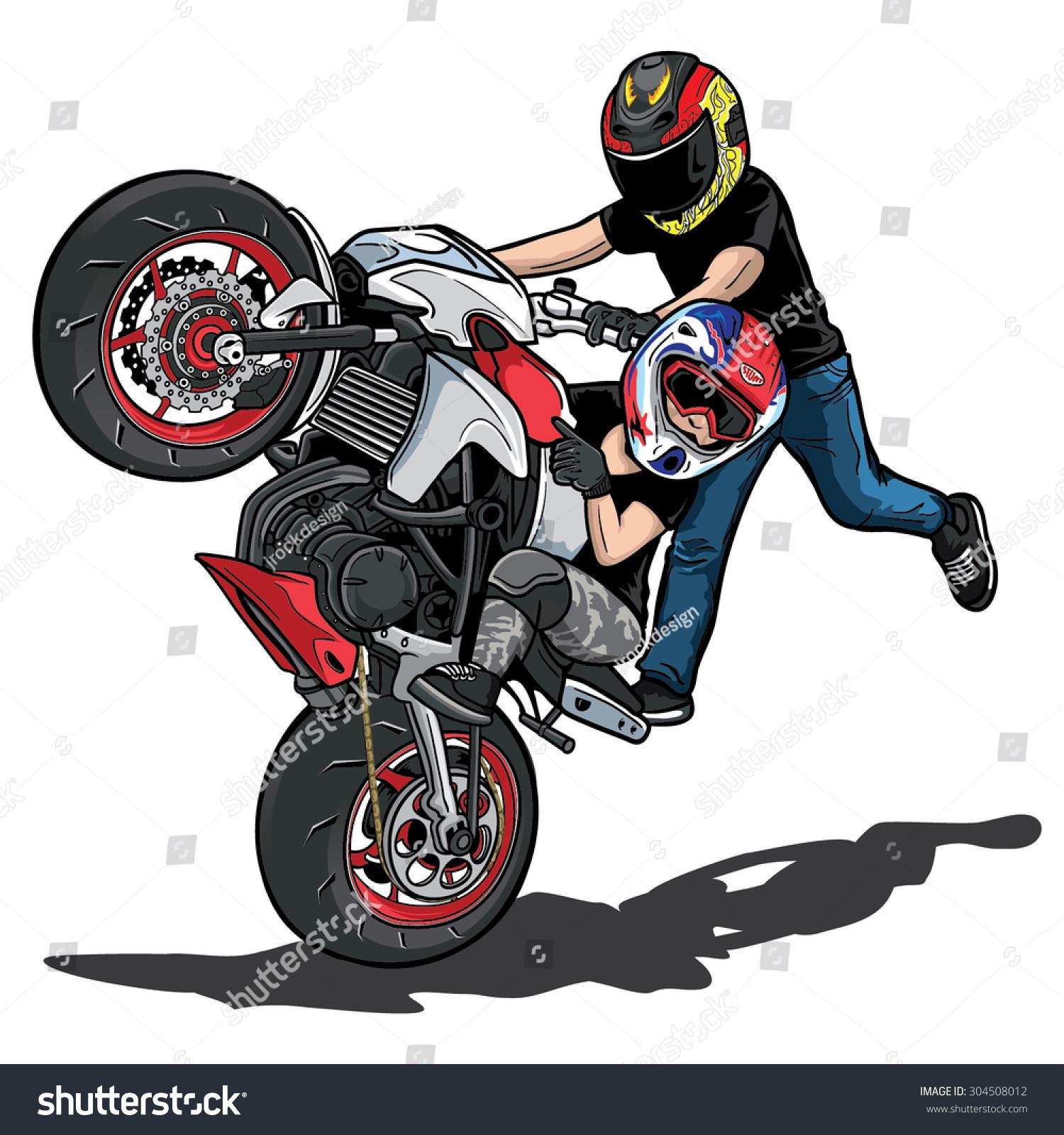 stunt bike stock vector 304508012 shutterstock dirt bike clip art images dirt bike clipart for kids to download