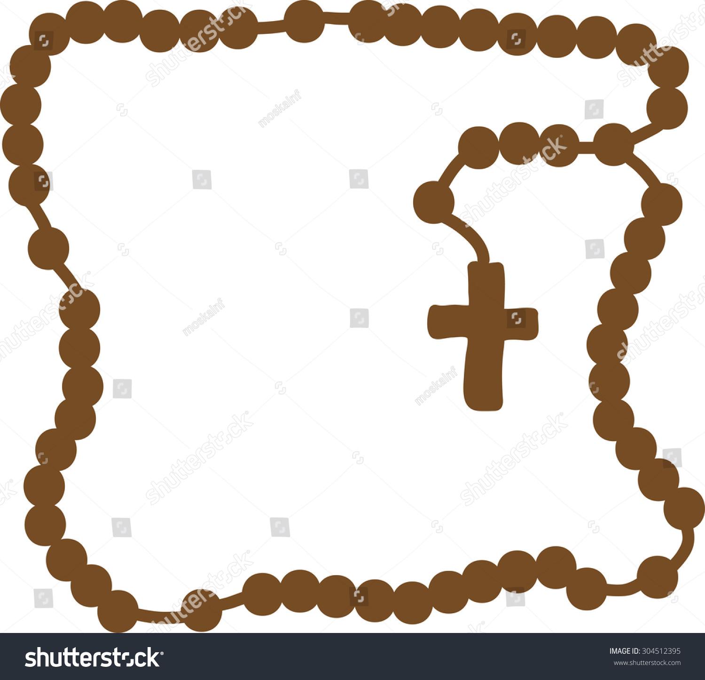Royalty free holy rosary brown frame with rosary 304512395 holy rosary brown frame with rosary brown wooden catholic rosary beads religious symbols buycottarizona