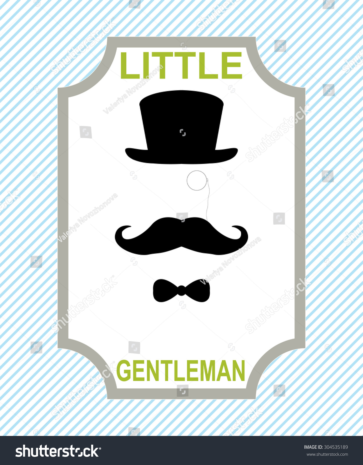 2143903f48b4b Baby Shower Template Little Gentleman Template Stock Vector (Royalty ...
