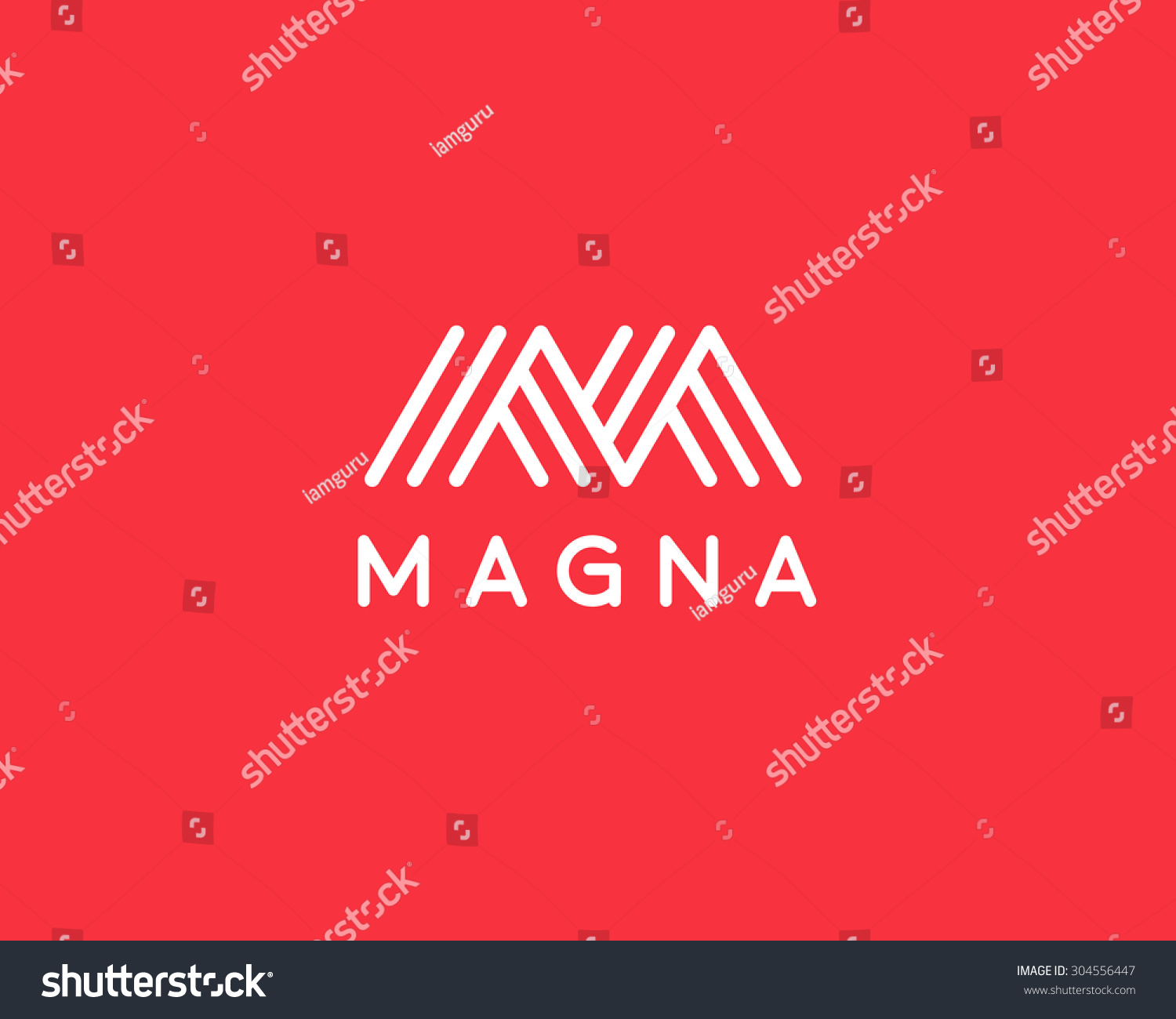 Abstract Letter M W Logo Design Stock Vector Royalty Free 304556447