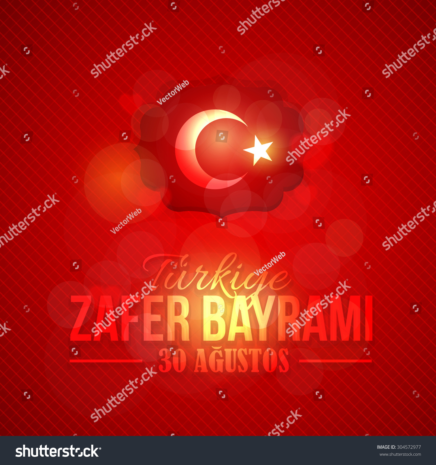 Republic turkey lighting card greeting message stock vector republic of turkey lighting card and greeting message poster badges english august 30 kristyandbryce Images