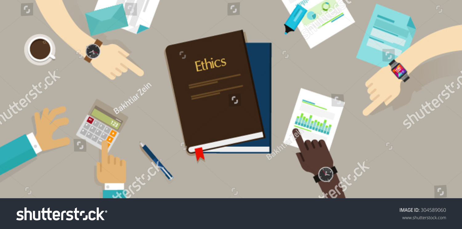 business ethics ethical code moral integrity stock vector business ethics ethical code moral and integrity