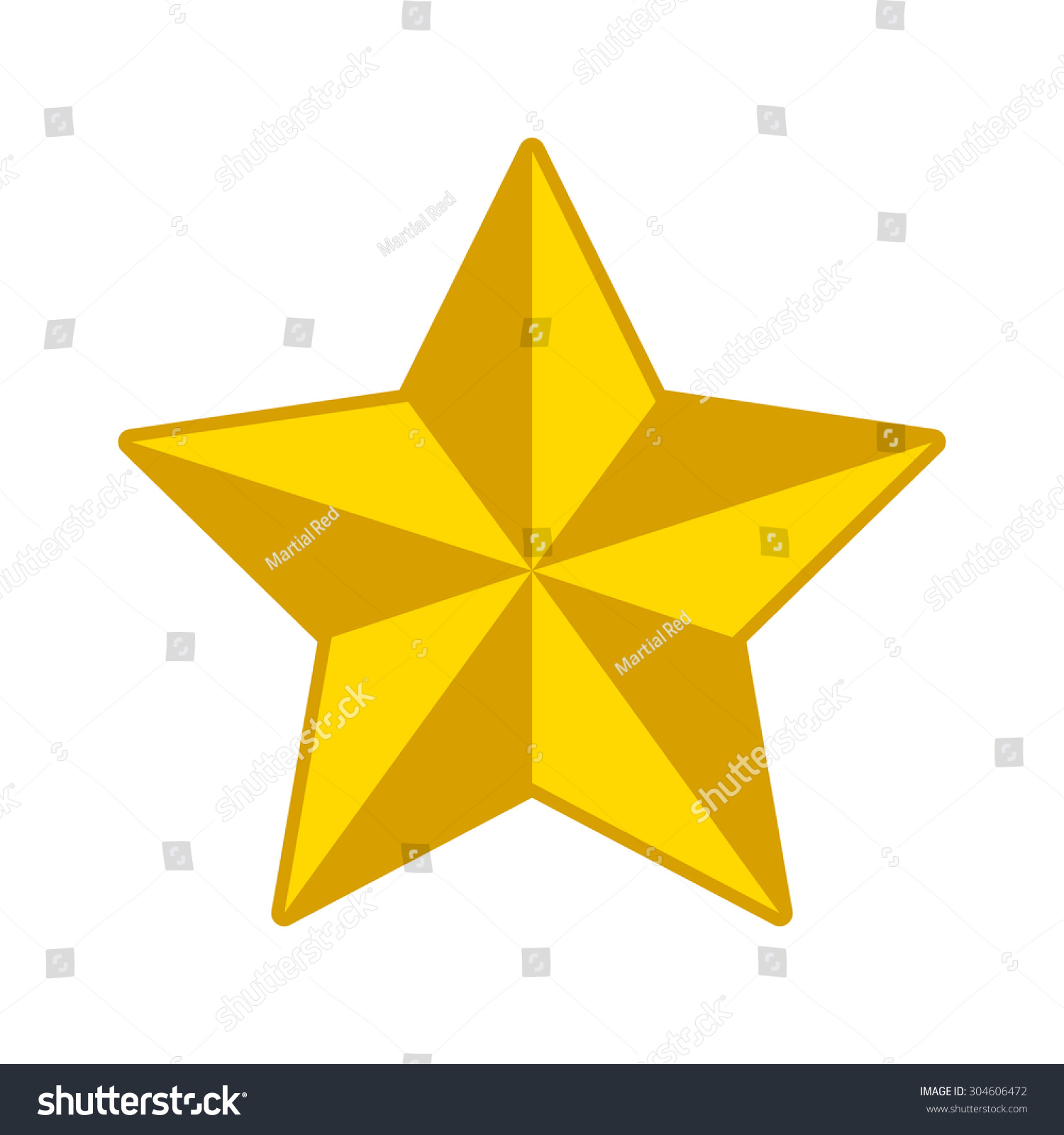 3d gold star christmas star decoration stock vector for 3d star decoration