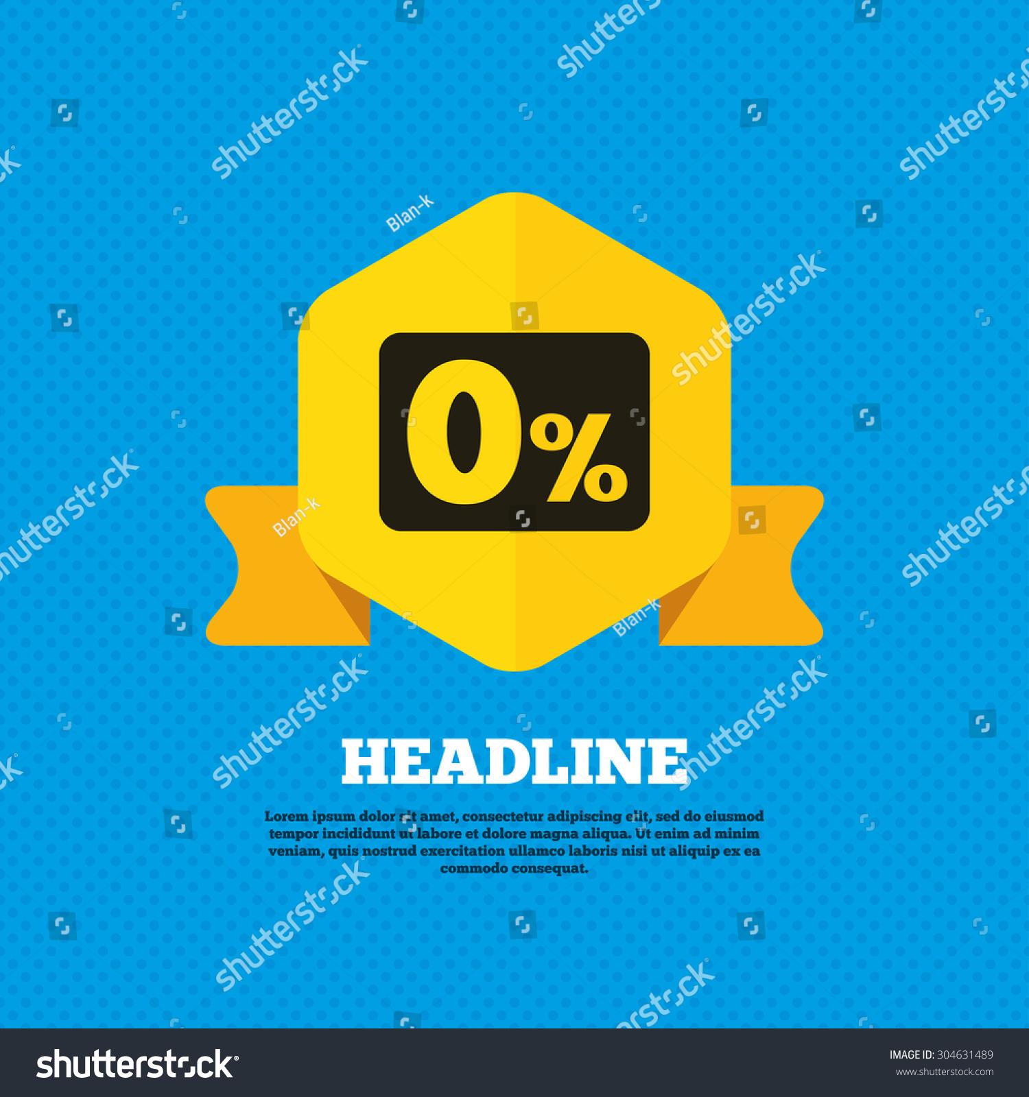 zero percent sign icon zero credit stock vector 304631489 shutterstock. Black Bedroom Furniture Sets. Home Design Ideas