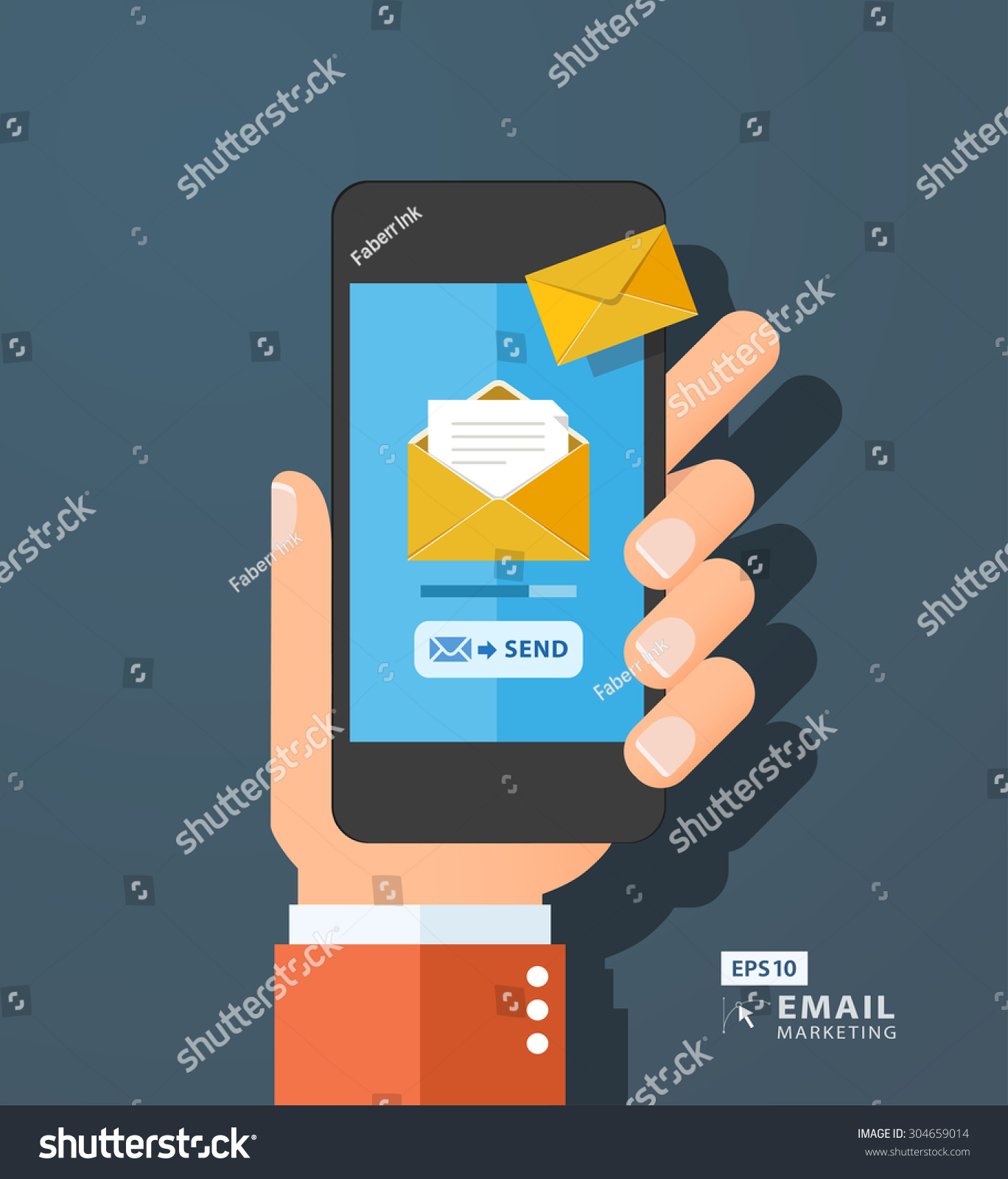 Email and Text Message Clip Art