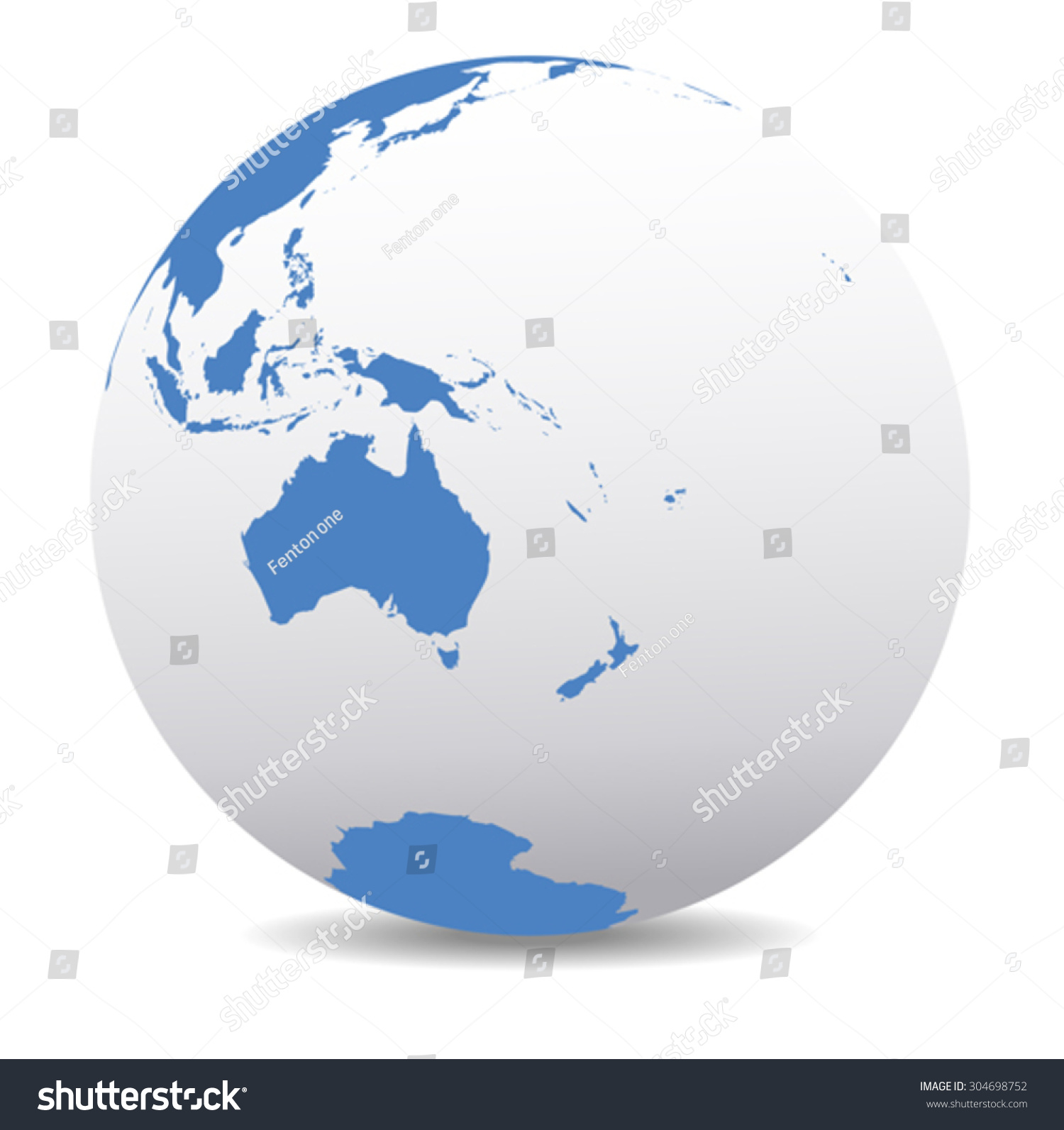 Australia new zealand south pole pacific vectores en stock 304698752 australia new zealand south pole and the pacific ocean vector map icon of gumiabroncs Image collections