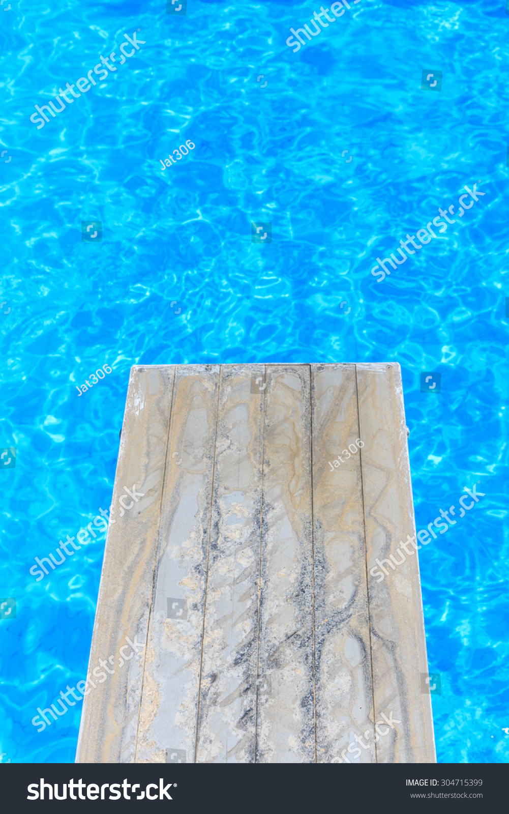 Swimming Pool Old Wooden Diving Board Stock Photo 304715399 Shutterstock