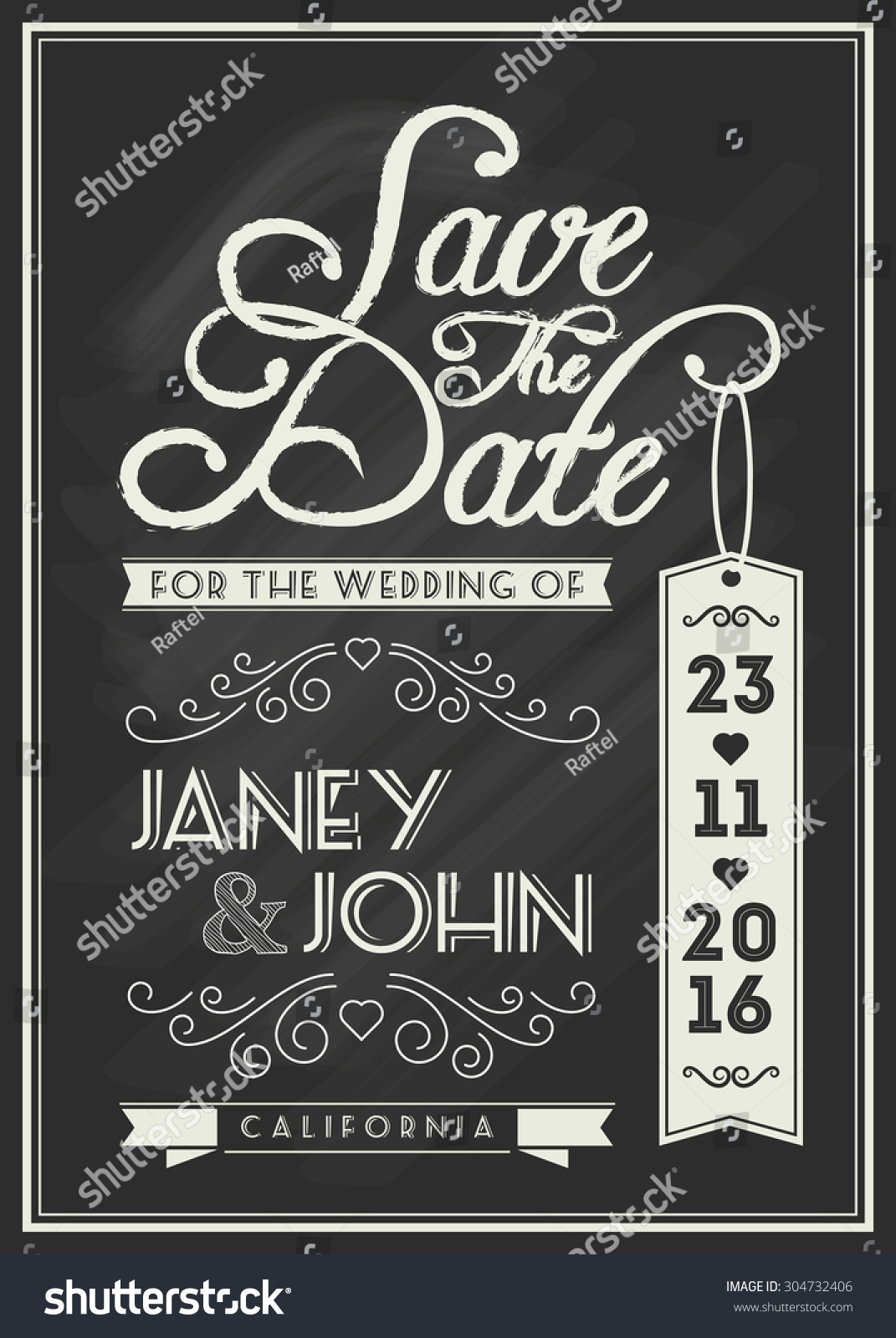 save date card template design typography stock vector royalty free