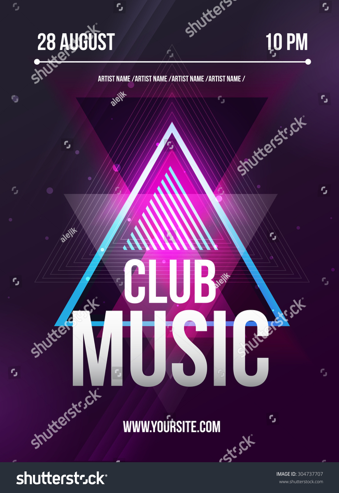 Party Flyer Club Music Flyer Dj Vector 304737707 Shutterstock – Music Flyer