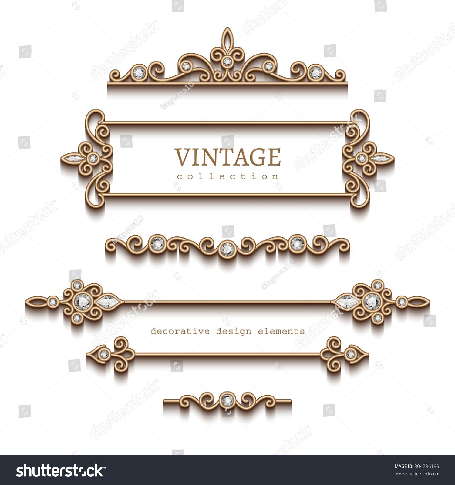 Gold Jewelry Vector Art & Graphics