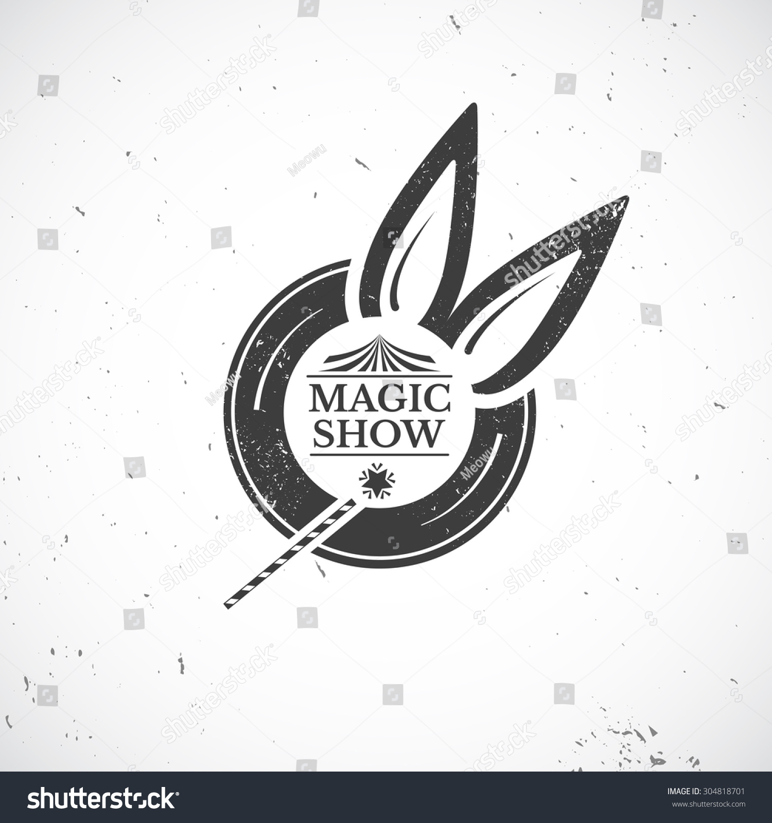 Circus Vintage Badge Old Black Hat Stock Vector (Royalty Free ...