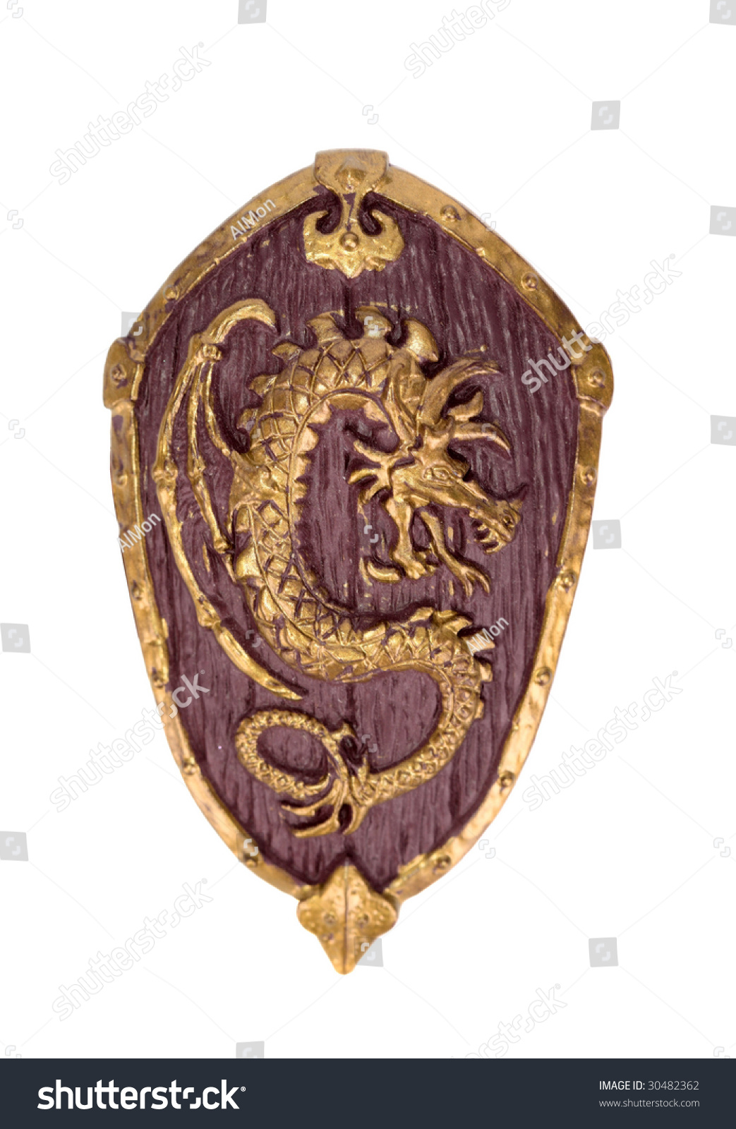 Middle Age Wooden Shield Stock Photo 30482362 Shutterstock