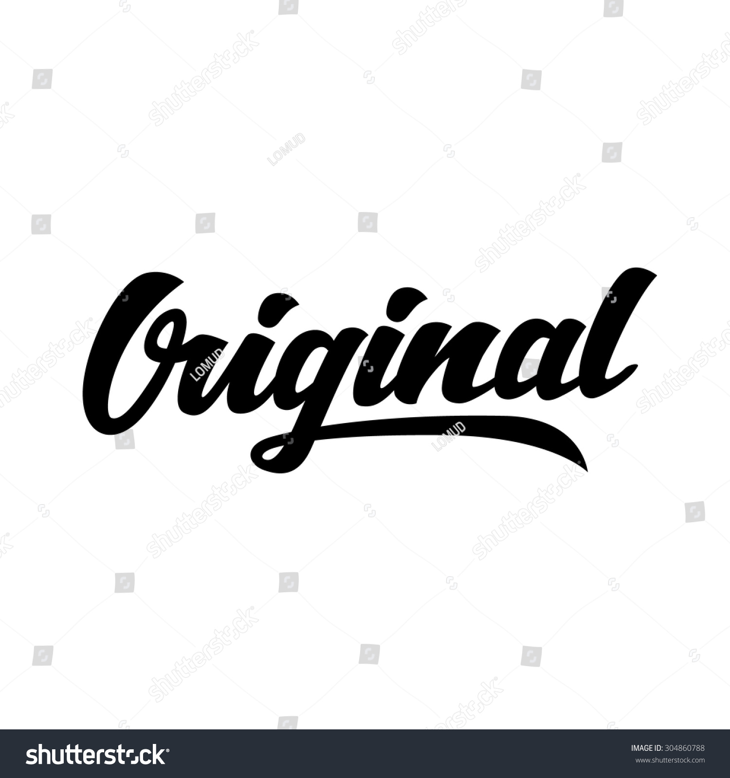 Original word hand lettering handmade vector stock vector Images of calligraphy