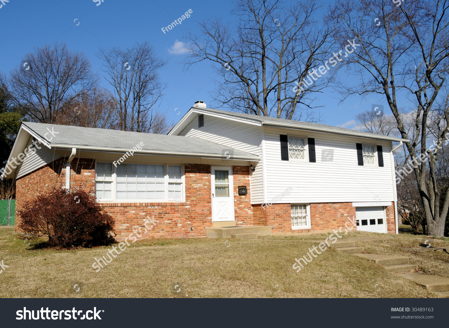 typical american split level home built in the 1960 s stock photo save to a lightbox