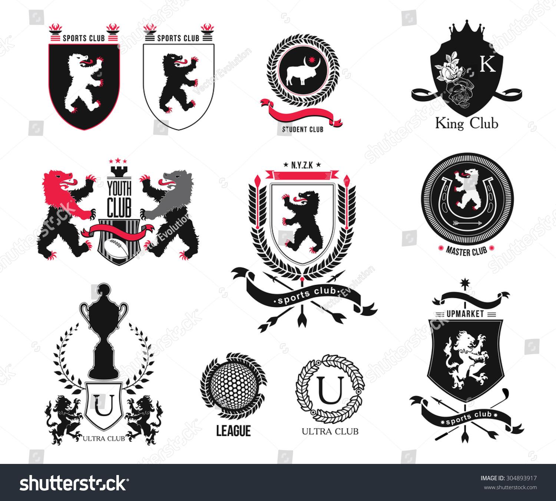 Vintage Heraldic Style Logo Icon Emblem Stock Vector 304893917 Shutterstock