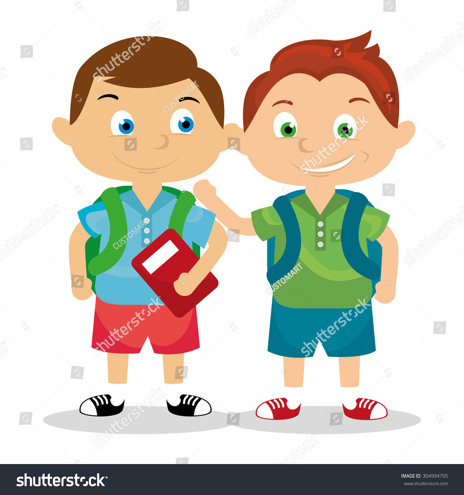 Cartoon Classmate Stock Vector 304994705 - Shutterstock