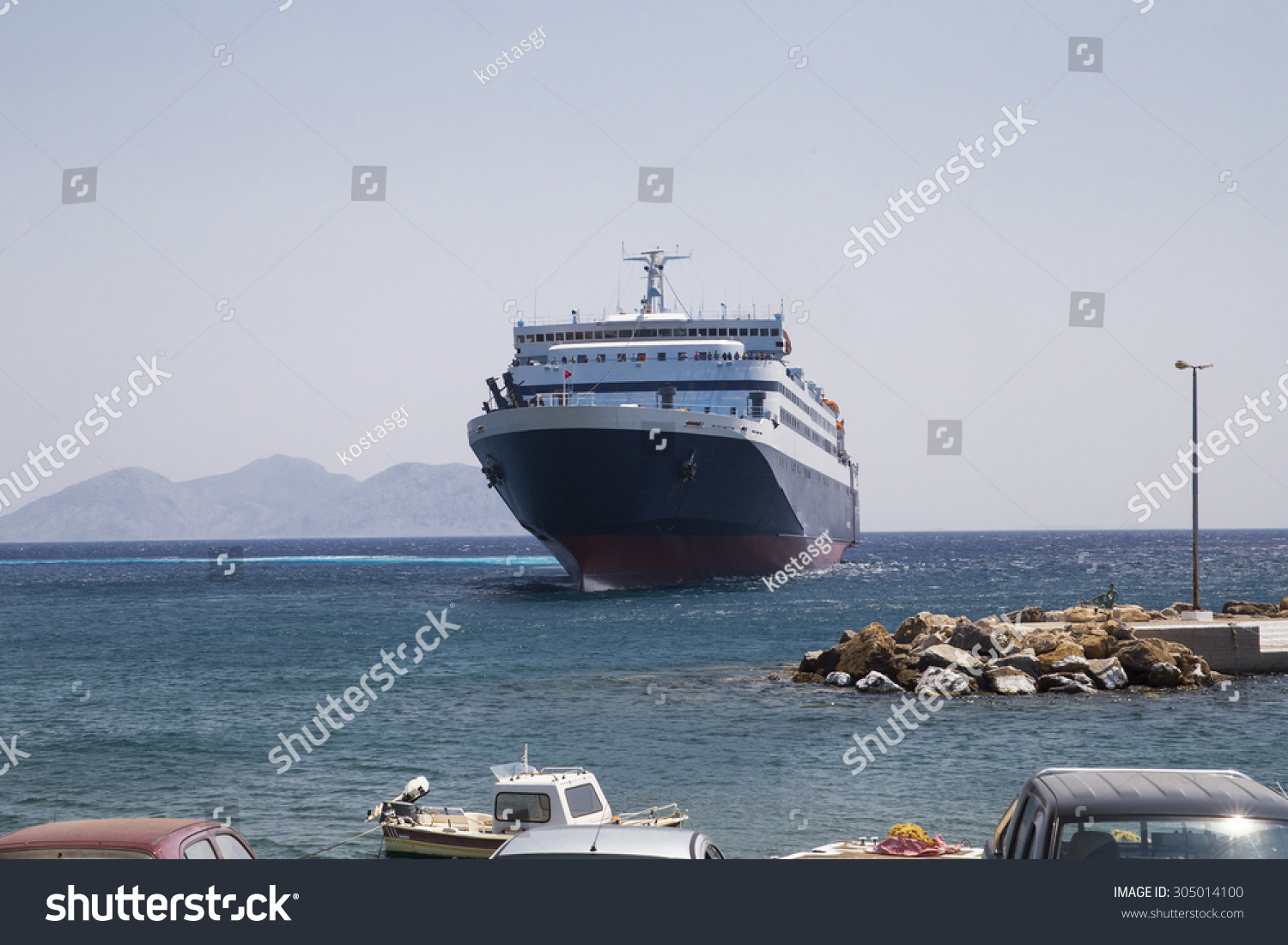 Ship Large Front Side Port Stock Photo (Edit Now) 305014100